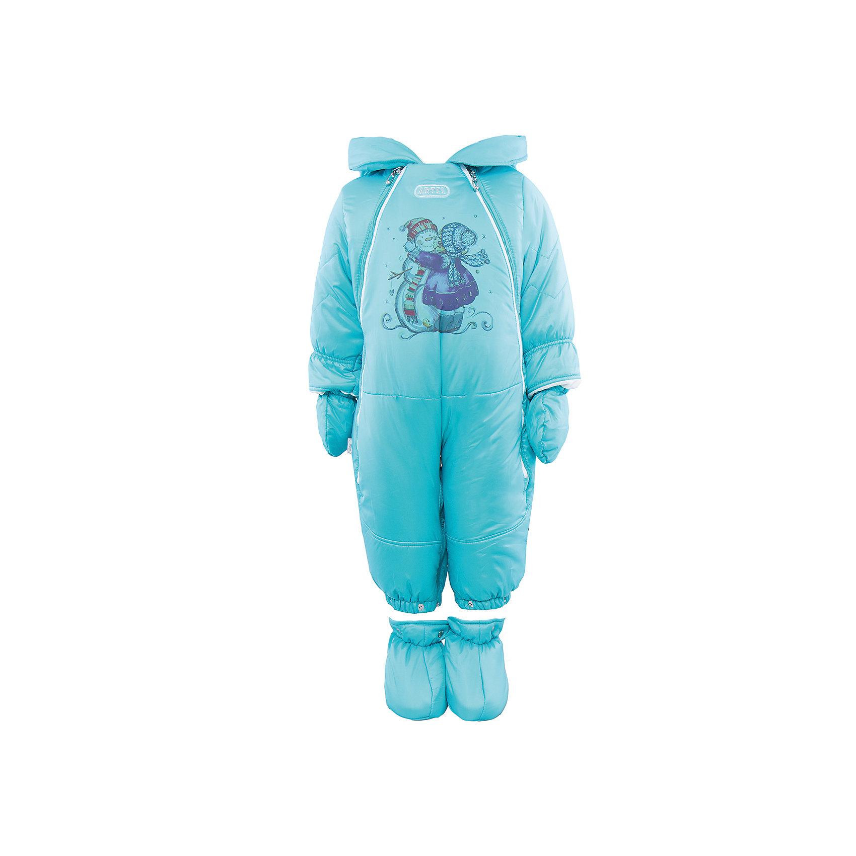 Комбинезон-трансформер на овчине для мальчика АртельВерхняя одежда<br>Комбинезон-трансформер для мальчика от известного бренда Артель<br>Комбинезон-трансформер - это отличный вариант одежды для прогулок в холодное время года. Он выполняет функцию полноценного костюма с ножками, в котором удобно носить ребенка на руках, или перевозить в автокресле и теплого уютного спального конверта, в котором ребенку комфортно находиться в коляске. Комбинезон трансформируется в конверт с помощью дополнительных молний. <br>Состав:<br>Верх: YSD 819<br>Подкладка: интерлок<br>Утеплитель: термофайбер 200гр<br>Подстежка: овчина<br><br>Ширина мм: 356<br>Глубина мм: 10<br>Высота мм: 245<br>Вес г: 519<br>Цвет: голубой<br>Возраст от месяцев: 6<br>Возраст до месяцев: 9<br>Пол: Мужской<br>Возраст: Детский<br>Размер: 74,62,68<br>SKU: 4963489