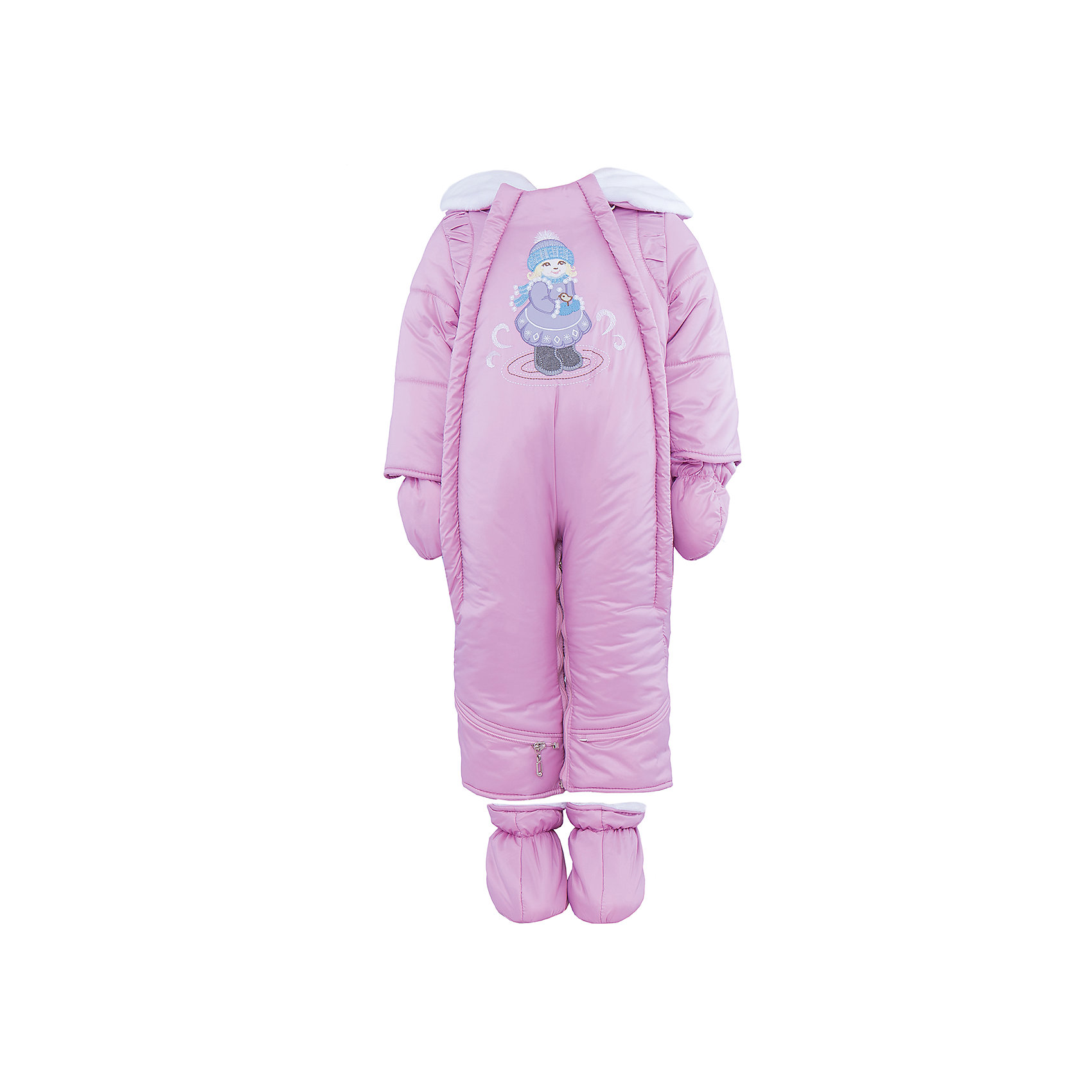 Комбинезон-трансформер на овчине для девочки АртельКомбинезон-трансформер для девочки от известного бренда Артель<br>Комбинезон-трансформер - это отличный вариант одежды для прогулок в холодное время года. Он выполняет функцию полноценного костюма с ножками, в котором удобно носить ребенка на руках, или перевозить в автокресле и теплого уютного спального конверта, в котором ребенку комфортно находиться в коляске. Комбинезон трансформируется в конверт с помощью дополнительных молний. <br>Состав:<br>Верх: YSD 819<br>Подкладка: интерлок<br>Утеплитель: термофайбер 200гр<br>Подстежка: овчина<br><br>Ширина мм: 356<br>Глубина мм: 10<br>Высота мм: 245<br>Вес г: 519<br>Цвет: светло-розовый<br>Возраст от месяцев: 2<br>Возраст до месяцев: 5<br>Пол: Женский<br>Возраст: Детский<br>Размер: 62,74,68<br>SKU: 4963497
