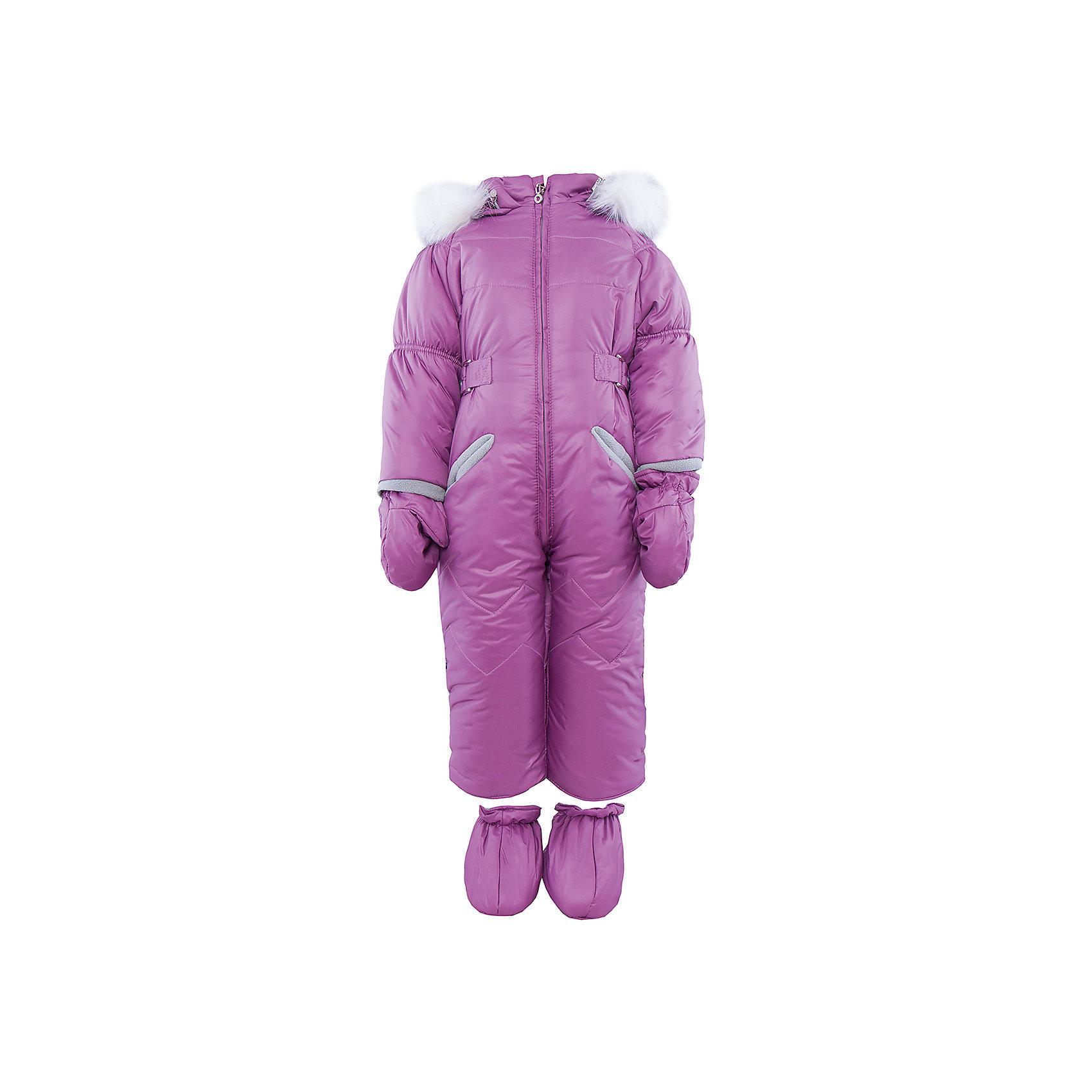 Комбинезон на овчине АртельВерхняя одежда<br>Комбинезон от известного бренда Артель<br>Модель этого теплого комбинезона комплектуется пинетками и варежками. Отворотные манжеты на рукавах и ножках позволяют регулировать длину. Подкладка комбинезона выполненая из вшитой овчины. На глубоком втачном капюшоне - съемный искусственный мех песца на кнопках. По линии талии объем изделия регулируется хлястиком.<br>Состав:<br>Верх: YSD 819<br>Подкладка: овчина<br>Утеплитель: термофайбер 200гр<br><br>Ширина мм: 356<br>Глубина мм: 10<br>Высота мм: 245<br>Вес г: 519<br>Цвет: розовый<br>Возраст от месяцев: 3<br>Возраст до месяцев: 6<br>Пол: Женский<br>Возраст: Детский<br>Размер: 68,74,80,86<br>SKU: 4963511