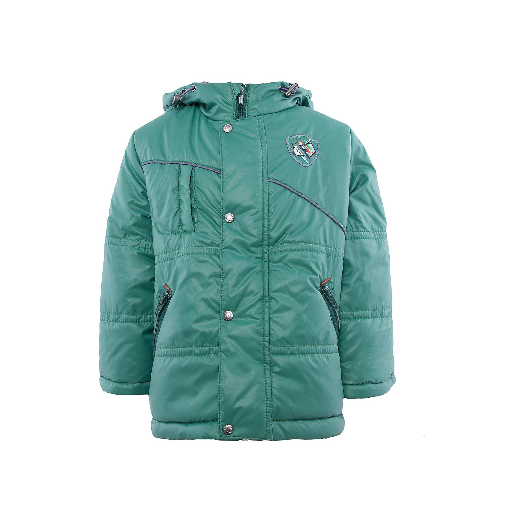 Куртка для мальчика АртельКуртка для мальчика от известного бренда Артель<br>Куртка прямого силуэта. Капюшон втачной с регулируемой кулиской. Манжета рукава отворотная, регулируется по длине. Но низу куртка собирается на резинку- кулиску.<br>Состав:<br>Верх: 819 YSD<br>Подкладка: интерлок,тиси<br>Утеплитель: термофайбер 200гр<br><br>Ширина мм: 356<br>Глубина мм: 10<br>Высота мм: 245<br>Вес г: 519<br>Цвет: зеленый<br>Возраст от месяцев: 24<br>Возраст до месяцев: 36<br>Пол: Мужской<br>Возраст: Детский<br>Размер: 98,104,110,116,122<br>SKU: 4963596