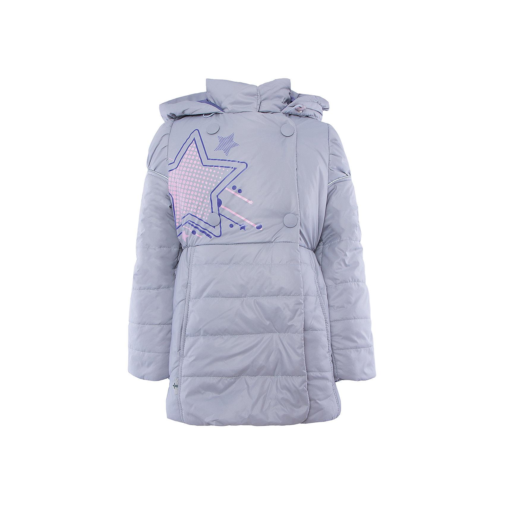 Куртка для девочки АртельКуртка для девочки от известного бренда Артель<br>Стильная удлиненная двубортная куртка на девочку. Капюшон втачной с отворотом в виде буфа. Манжета рукава регулируется по длине. По линии талии сторочка с резинкой. <br>Состав:<br>Верх: YSD 819<br>Подкладка: интерлок, тиси<br>Утеплитель: термофайбер 200гр<br><br>Ширина мм: 356<br>Глубина мм: 10<br>Высота мм: 245<br>Вес г: 519<br>Цвет: серый<br>Возраст от месяцев: 36<br>Возраст до месяцев: 48<br>Пол: Женский<br>Возраст: Детский<br>Размер: 104,128,122,116,110<br>SKU: 4963642