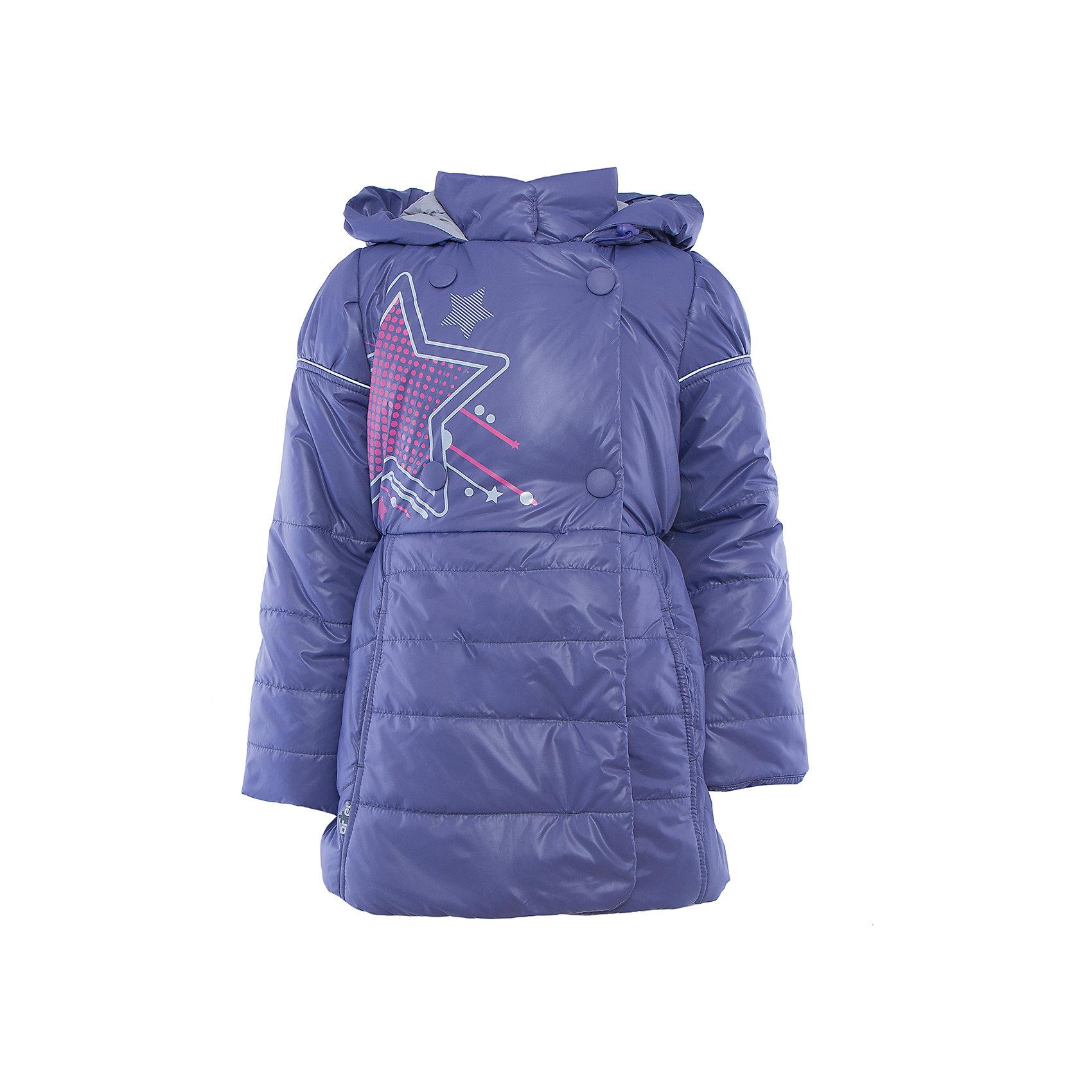 Куртка для девочки АртельВерхняя одежда<br>Куртка для девочки от известного бренда Артель<br>Стильная удлиненная двубортная куртка на девочку. Капюшон втачной с отворотом в виде буфа. Манжета рукава регулируется по длине. По линии талии сторочка с резинкой. <br>Состав:<br>Верх: YSD 819<br>Подкладка: интерлок, тиси<br>Утеплитель: термофайбер 200гр<br><br>Ширина мм: 356<br>Глубина мм: 10<br>Высота мм: 245<br>Вес г: 519<br>Цвет: фиолетовый<br>Возраст от месяцев: 60<br>Возраст до месяцев: 72<br>Пол: Женский<br>Возраст: Детский<br>Размер: 116,128,104,110,122<br>SKU: 4963648