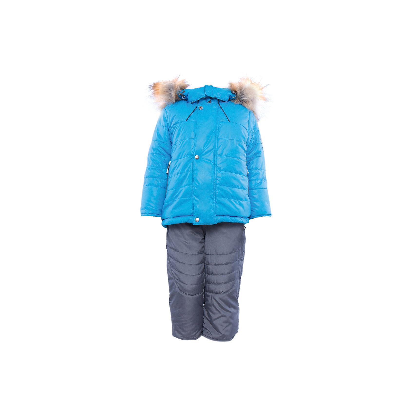 Комплект: куртка и полукомбинезон на овчине для мальчика АртельВерхняя одежда<br>Комплект: куртка и полукомбинезон для мальчика от известного бренда Артель<br>Теплая куртка прямого силуэта с дополнительной меховой подстежкой. Съемный глубокий капюшон на кнопках с искусственным отстегивающемся мехом енота, вязаные манжеты в рукавах и регулируемая кулиска по низу куртки создают дополнительную защиту в холодное время года. Отворотный рукав регулируется по длине, карманы прорезные на молнии. У полукомбинезона регулируется длина бретелек и отворачивается низ штанишек, что позволит индивидуально для каждого ребенка скорректировать посадку изделия. По низу штанины имеется дополнительная защита от снега. <br>Состав:<br>Верх: 819 YSD<br>Подкладка: интерлок<br>Подстежка: овчина<br>Опушка:енот искусственный(отстегивается)<br>Утеплитель: термофайбер 200гр<br><br>Ширина мм: 215<br>Глубина мм: 88<br>Высота мм: 191<br>Вес г: 336<br>Цвет: голубой<br>Возраст от месяцев: 12<br>Возраст до месяцев: 15<br>Пол: Мужской<br>Возраст: Детский<br>Размер: 80,86,92,74<br>SKU: 4963899