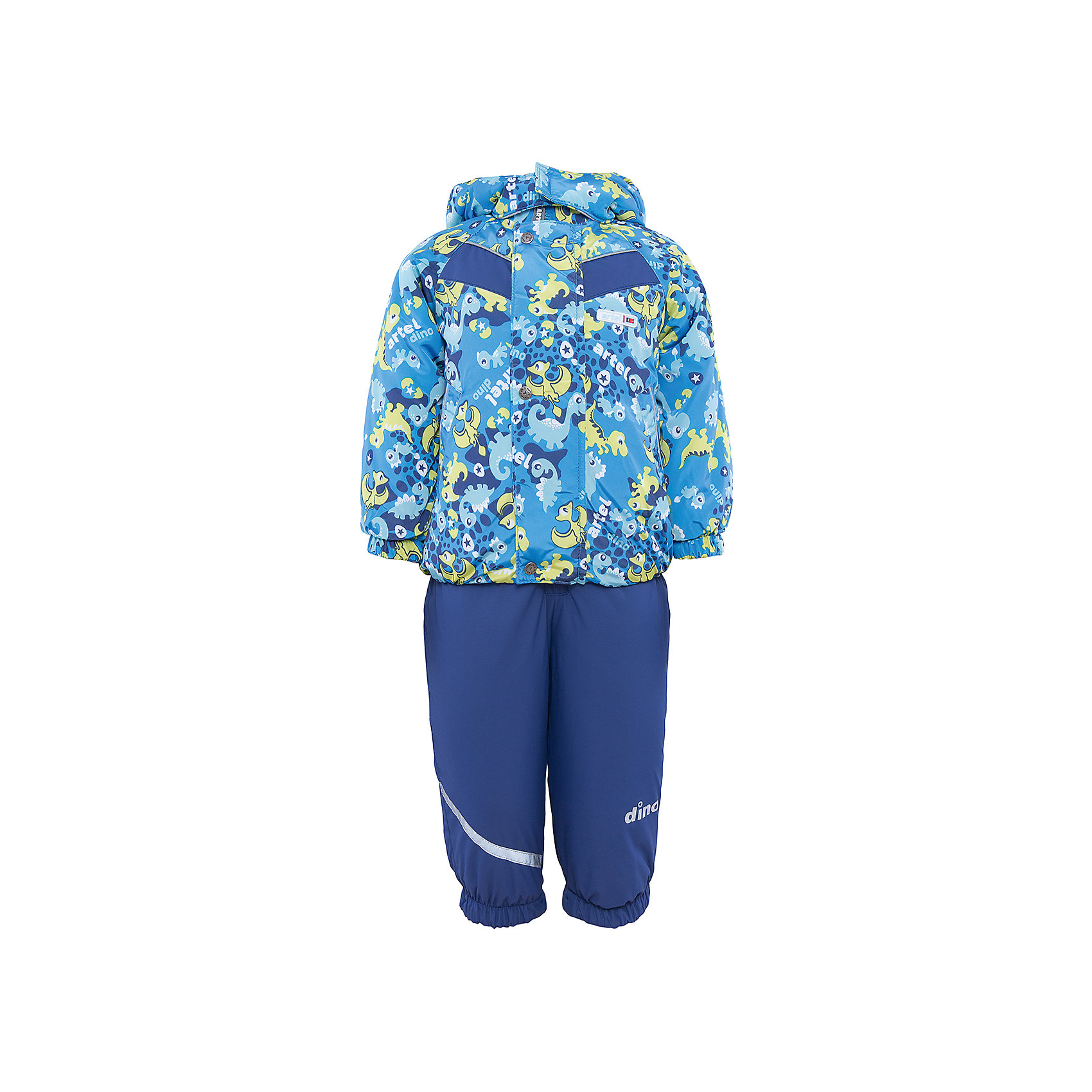 Комплект: куртка и полукомбинезон для мальчика АртельКомплект: куртка и полукомбинезон для мальчика от известного бренда Артель<br>Комплект на современном утеплителеиз мембранной ткани, позволит малышу долго гулять даже в самую слякотную погоду, кататься с мокрых горок и не промокнуть. Куртка выполнена из ткани с оригинальным принтом динозавриков. Центральный замок на молнию прикрыт декоративной планкой-рюшей. Функцию дополнительной защиты от ветра выполняют: глубокий капюшон с резинкой по краю, кулиска с резинкой по низу куртки и резинка с флисовой внутренней вставкой на рукавах. У полукомбинезона регулируется длина бретелек. По низу штанишек расположены штрипки, которые фиксируются на сапожках, удерживают штанину от задирания и обеспечивают дополнительную защиту от скольжения. Сзади, по линии талии, для дополнительной фиксации, расположена резинка.<br>Состав:<br>Верх: КВ-703<br>Подкладка: интерлок, ПЭ<br>Утеплитель: термофин 200гр<br><br>Ширина мм: 215<br>Глубина мм: 88<br>Высота мм: 191<br>Вес г: 336<br>Цвет: синий<br>Возраст от месяцев: 48<br>Возраст до месяцев: 60<br>Пол: Мужской<br>Возраст: Детский<br>Размер: 110,80,86,104<br>SKU: 4963914