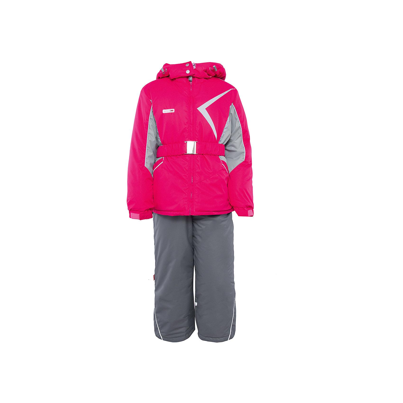 Комплект: куртка и полукомбинезон для девочки АртельВерхняя одежда<br>Комплект: куртка и полукомбинезон для девочки от известного бренда Артель<br>Комплект на современном утеплителеиз мембранной ткани, позволит ребенку долго гулять даже в самую слякотную погоду, кататься с мокрых горок и не промокнуть. Куртка выполнена из мембранной ткани . Функцию дополнительной защиты от ветра выполняют: глубокий капюшон с резинкой и стопорами, кулиска с резинкой по низу куртки, дополнительная фиксация по краю рукава с регулируемой липучкой. По линии талии расположен пояс на резинке с декоративной пряжкой. У полукомбинезона регулируется длина бретелек. Внизу на штанишках есть дополнительная фиксация, в виде напульсника и застежки на липучку.<br>Состав:<br>Верх: LokkerPoint<br>Подкладка: микрофлис, пэ<br>Утеплитель: TermoFinn 200<br>Полукомбинезон:<br>Верх: LokkerPoint<br>Подкладка: флис, пэ<br>Утеплитель: TermoFinn 200<br><br>Ширина мм: 215<br>Глубина мм: 88<br>Высота мм: 191<br>Вес г: 336<br>Цвет: розовый<br>Возраст от месяцев: 84<br>Возраст до месяцев: 96<br>Пол: Женский<br>Возраст: Детский<br>Размер: 128,146,116,122,134,140<br>SKU: 4963965