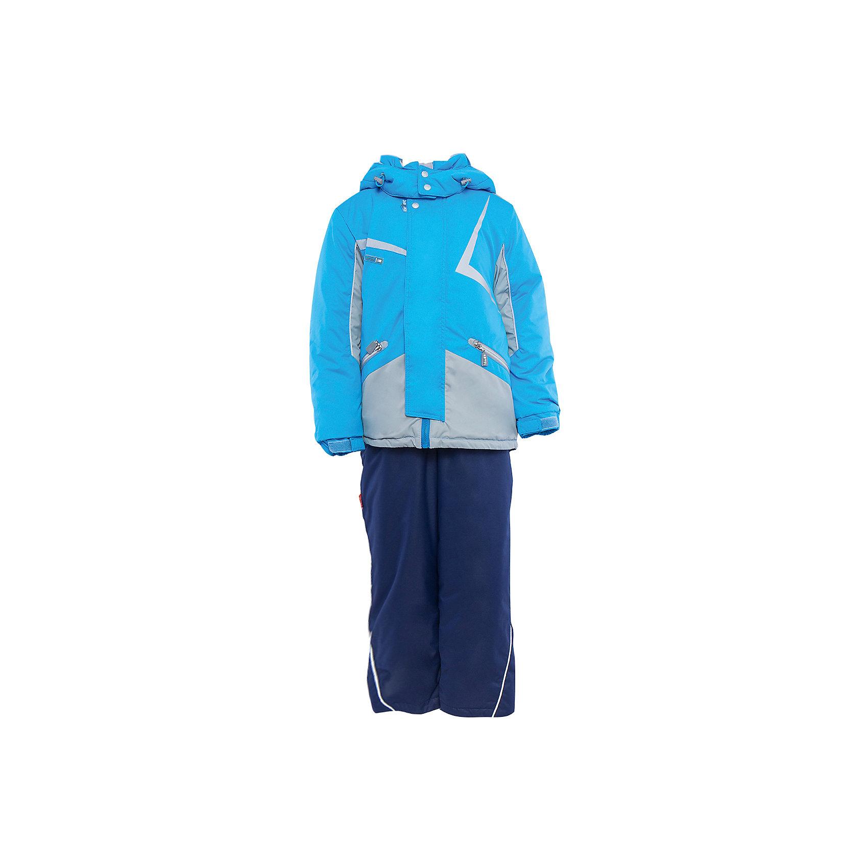 Комплект: куртка и полукомбинезон для мальчика АртельВерхняя одежда<br>Комплект: куртка и полукомбинезон для мальчика от известного бренда Артель<br>Комплект на современном утеплителеиз мембранной ткани, позволит ребенку долго гулять даже в самую слякотную погоду, кататься с мокрых горок и не промокнуть. Куртка выполнена из мембранной ткани . Функцию дополнительной защиты от ветра выполняют: глубокий капюшон с резинкой и стопорами, кулиска с резинкой по низу куртки, дополнительная фиксация по краю рукава с регулируемой липучкой. По линии талии расположен пояс на резинке с декоративной пряжкой. У полукомбинезона регулируется длина бретелек. Внизу на штанишках есть дополнительная фиксация, в виде напульсника и застежки на липучку.<br>Состав:<br>Верх: LokkerPoint<br>Подкладка: микрофлис, пэ<br>Утеплитель: TermoFinn 200<br>Полукомбинезон:<br>Верх: LokkerPoint<br>Подкладка: флис, пэ<br>Утеплитель: TermoFinn 200<br>Верх: KB-703 HiPora<br><br>Ширина мм: 215<br>Глубина мм: 88<br>Высота мм: 191<br>Вес г: 336<br>Цвет: голубой<br>Возраст от месяцев: 60<br>Возраст до месяцев: 72<br>Пол: Мужской<br>Возраст: Детский<br>Размер: 116,146,122,128,134,140<br>SKU: 4963972