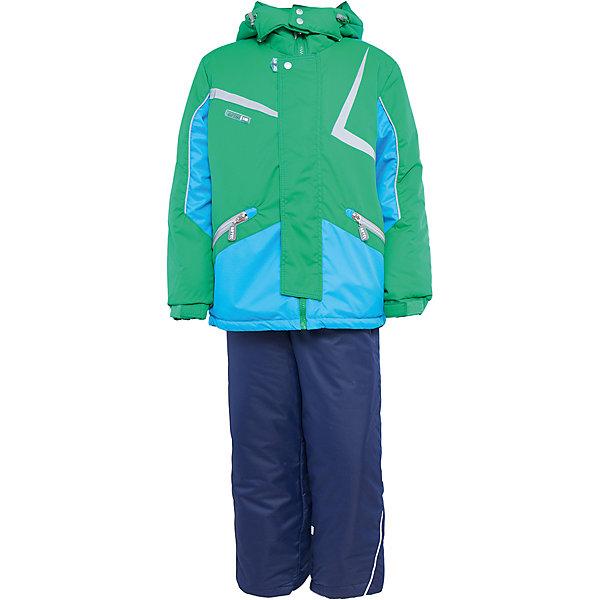 Комплект: куртка и полукомбинезон для мальчика АртельВерхняя одежда<br>Комплект: куртка и полукомбинезон для мальчика от известного бренда Артель<br>Комплект на современном утеплителеиз мембранной ткани, позволит ребенку долго гулять даже в самую слякотную погоду, кататься с мокрых горок и не промокнуть. Куртка выполнена из мембранной ткани . Функцию дополнительной защиты от ветра выполняют: глубокий капюшон с резинкой и стопорами, кулиска с резинкой по низу куртки, дополнительная фиксация по краю рукава с регулируемой липучкой. По линии талии расположен пояс на резинке с декоративной пряжкой. У полукомбинезона регулируется длина бретелек. Внизу на штанишках есть дополнительная фиксация, в виде напульсника и застежки на липучку.<br>Состав:<br>Верх: LokkerPoint<br>Подкладка: микрофлис, пэ<br>Утеплитель: TermoFinn 200<br>Полукомбинезон:<br>Верх: LokkerPoint<br>Подкладка: флис, пэ<br>Утеплитель: TermoFinn 200<br>Верх: KB-703 HiPora<br>Ширина мм: 215; Глубина мм: 88; Высота мм: 191; Вес г: 336; Цвет: зеленый; Возраст от месяцев: 84; Возраст до месяцев: 96; Пол: Мужской; Возраст: Детский; Размер: 128,122,116; SKU: 4963979;