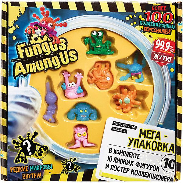 Набор из 10 фигурок микробов Fungus Amungus, VividИгровые наборы с фигурками<br>Игровой набор Fungus Amungus (Фунгус Амунгус) из 10 фигурок микробов от торговой марки Vivid - это замечательное собрание коварных монстров, которые готовы вырваться на свободу и начать устраивать различные шалости! Фигурки выполнены из расплющивающегося, растягивающегося и липкого пластика в ярких цветах. Так, к примеру, можно кинуть какого-нибудь микроба в стену, а он прилипнет к ней и будет сползать вниз! А если смять другого, то он без труда,  вернет себе привычную форму. Не все фигурки можно разглядеть через красочную блистерную упаковку, кто спрятан в коробке, можно узнать только, открыв ее, и это придает процессу коллекционирования больше азарта. Собрав полную коллекцию, юные коллекционеры смогут обмениваться фигурками с друзьями. С этими забавными фигурками будет легко придумать различные игровые сюжеты, развивая тем самым воображение. Микробы Fungus Amungus, помимо своих возможностей, привлекают к себе внимание невероятным внешним видом и расцветкой.<br><br>Дополнительная информация:<br><br>- возраст: от 4 лет<br>- пол: для мальчиков<br>- комплект: 10 липких фигурок, постер коллекционера.<br>-  материал: пластичный пластик.<br>- размер упаковки: 27 * 24 * 15 см.<br>- размер одной фигурки: около 3.5 см.<br>- вес: 0.5 кг.<br>- упаковка: картонная коробка.<br>- бренд: Vivid<br>- страна обладатель бренда: Великобритания.<br><br>Набор из 10 фигурок микробов Fungus Amungus,  торговой марки Vivid  можно купить в нашем интернет-магазине<br><br>Ширина мм: 223<br>Глубина мм: 223<br>Высота мм: 45<br>Вес г: 240<br>Возраст от месяцев: 48<br>Возраст до месяцев: 144<br>Пол: Мужской<br>Возраст: Детский<br>SKU: 4964024