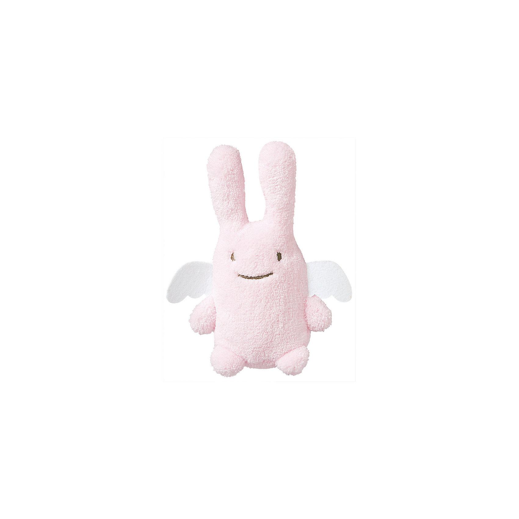 TROUSSELIER Мягкая игрушка Зайка с крылышками и погремушкой, розовый, 12см , Trousselier trousselier мягкая игрушка зайка с музыкой розовый 25см trousselier