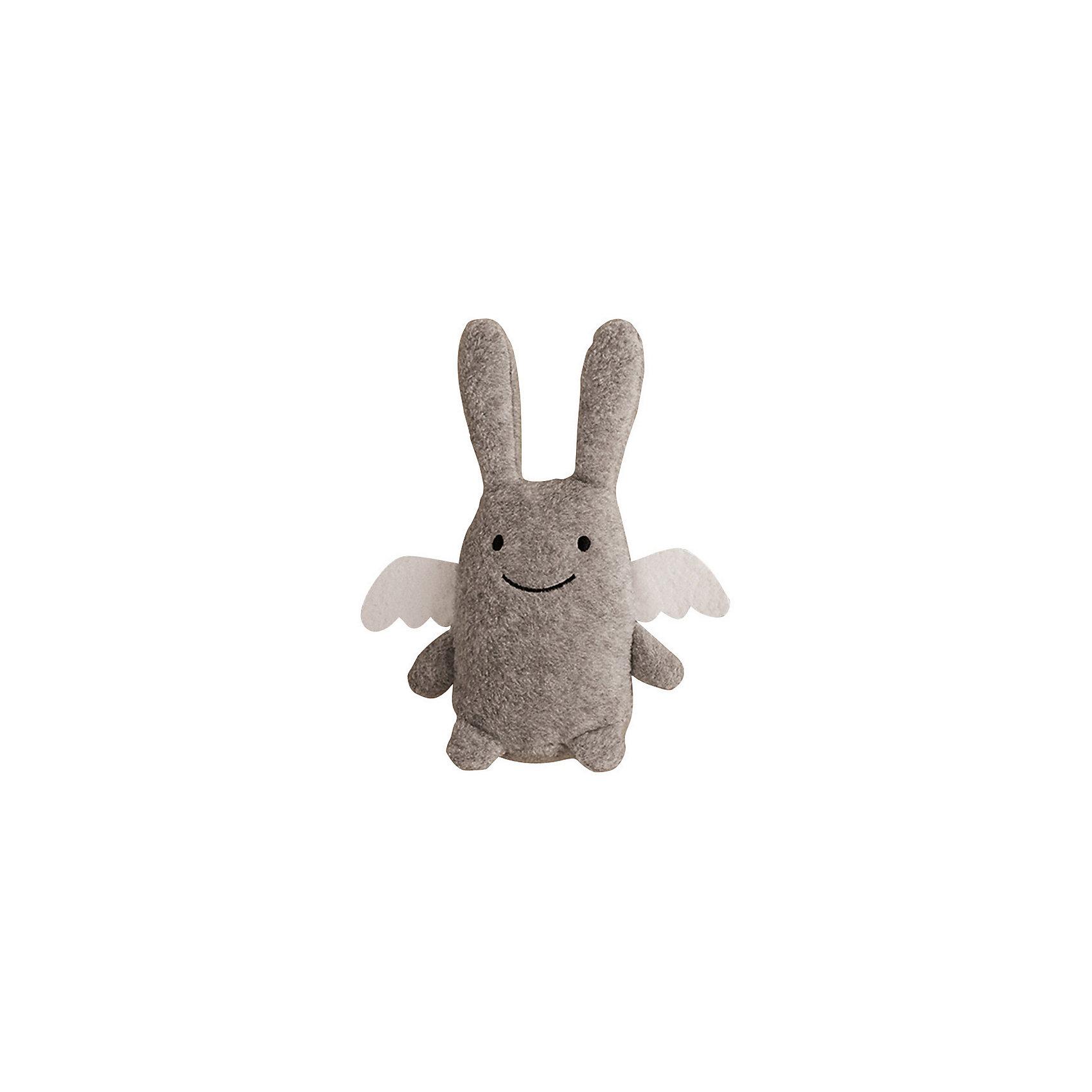 TROUSSELIER Мягкая игрушка Зайка с крылышками и погремушкой, серый, 12см , Trousselier шкатулки trousselier музыкальная шкатулка 1 отделение fairy parma