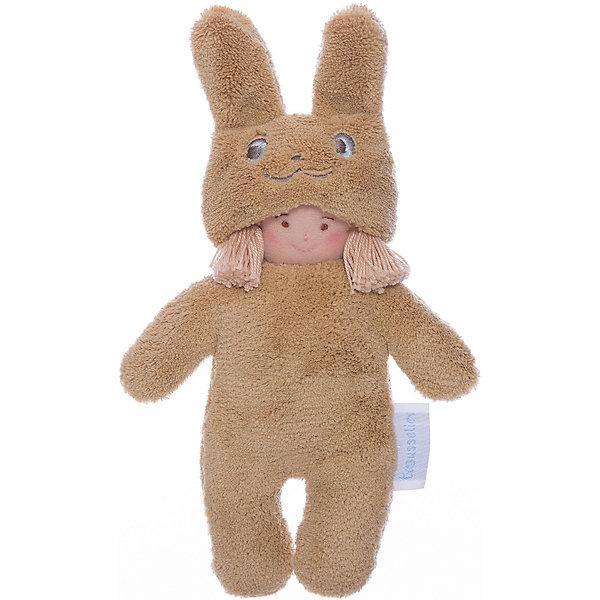 Тряпичная кукла Девочка в костюме кролика, 22смКуклы<br><br>Ширина мм: 120; Глубина мм: 40; Высота мм: 40; Вес г: 180; Возраст от месяцев: -2147483648; Возраст до месяцев: 2147483647; Пол: Унисекс; Возраст: Детский; SKU: 4964788;