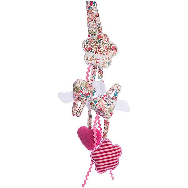 Мягкая погремушка-подвеска, 20см&#13;, TrousselierИгрушки для новорожденных<br>Мягкая погремушка-подвеска, 20см, Trousselier<br><br>Характеристики:<br><br>• Материал: текстиль, пластик.<br>• Размер: 20 см. <br><br>Очаровательная мягкая погремушка-подвеска от известного французского бренда Trousselier в виде двух кроликов и двух сердечек не оставит равнодушным ни одного малыша. Такая погремушка легко крепится на кроватку или коляску, она не имеет мелких деталей, и ее запросто можно попробовать на вкус. А нежные пастельные тона великолепно вписываются в любой интерьер - игрушки и аксессуары французского бренда придадут определенный шарм детской комнате или гостиной.<br><br>Мягкую погремушку-подвеску, 20см, Trousselier, можно купить в нашем интернет – магазине.<br><br>Ширина мм: 200<br>Глубина мм: 40<br>Высота мм: 40<br>Вес г: 180<br>Возраст от месяцев: -2147483648<br>Возраст до месяцев: 2147483647<br>Пол: Унисекс<br>Возраст: Детский<br>SKU: 4964790