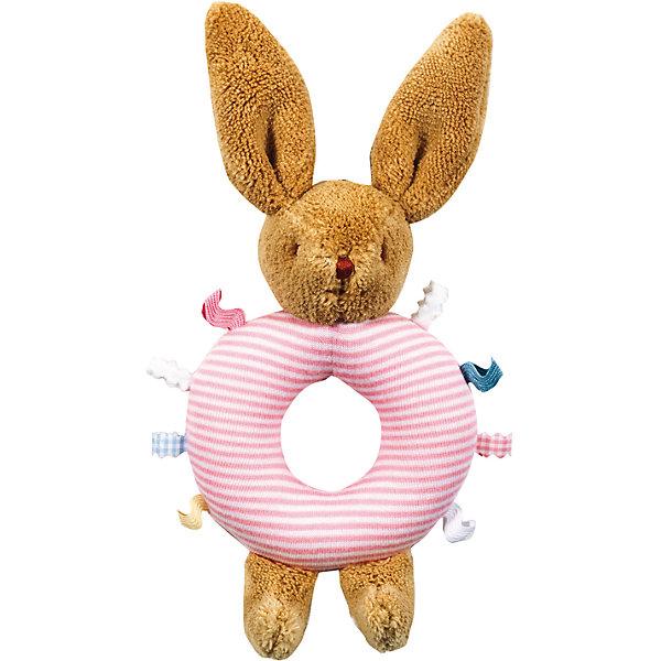 Погремушка-кольцо Зайчик, розовое, 16см&#13;, TrousselierИгрушки для новорожденных<br>Погремушка-кольцо Зайчик, розовое, 16см, Trousselier<br><br>Характеристика:<br><br>-Материалы: текстиль,полиэстер,хлопок<br>-Возраст: от 3 месяцев<br>-Размер: 16 см<br>-Цвет: розовый<br>-Марка: Trousselier<br><br>Погремушка-кольцо очень удобна для малыша. Благодаря кольцу, ребёнку будет легко держать погремушку. Ребёнок не сможет пораниться, ведь вся погремушка мягкая, словно плюшевая игрушка. Выполнена она в виде зайчика, а кольцо посередине имеет веселую полосатую окраску . Погремушка будет развивать слух, внимание и цветовое восприятие.<br><br>Погремушка-кольцо Зайчик, розовое, 16см, Trousselier можно приобрести в нашем интернет-магазине.<br><br>Ширина мм: 160<br>Глубина мм: 40<br>Высота мм: 40<br>Вес г: 180<br>Возраст от месяцев: -2147483648<br>Возраст до месяцев: 2147483647<br>Пол: Женский<br>Возраст: Детский<br>SKU: 4964793