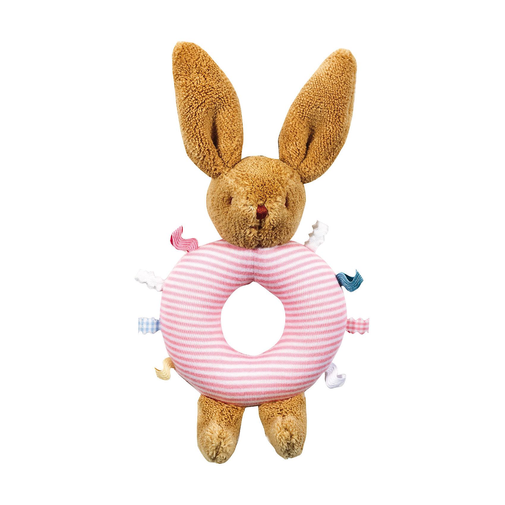 Погремушка-кольцо Зайчик, розовое, 16см&#13;, TrousselierПогремушки<br>Погремушка-кольцо Зайчик, розовое, 16см, Trousselier<br><br>Характеристика:<br><br>-Материалы: текстиль,полиэстер,хлопок<br>-Возраст: от 3 месяцев<br>-Размер: 16 см<br>-Цвет: розовый<br>-Марка: Trousselier<br><br>Погремушка-кольцо очень удобна для малыша. Благодаря кольцу, ребёнку будет легко держать погремушку. Ребёнок не сможет пораниться, ведь вся погремушка мягкая, словно плюшевая игрушка. Выполнена она в виде зайчика, а кольцо посередине имеет веселую полосатую окраску . Погремушка будет развивать слух, внимание и цветовое восприятие.<br><br>Погремушка-кольцо Зайчик, розовое, 16см, Trousselier можно приобрести в нашем интернет-магазине.<br><br>Ширина мм: 160<br>Глубина мм: 40<br>Высота мм: 40<br>Вес г: 180<br>Возраст от месяцев: -2147483648<br>Возраст до месяцев: 2147483647<br>Пол: Женский<br>Возраст: Детский<br>SKU: 4964793