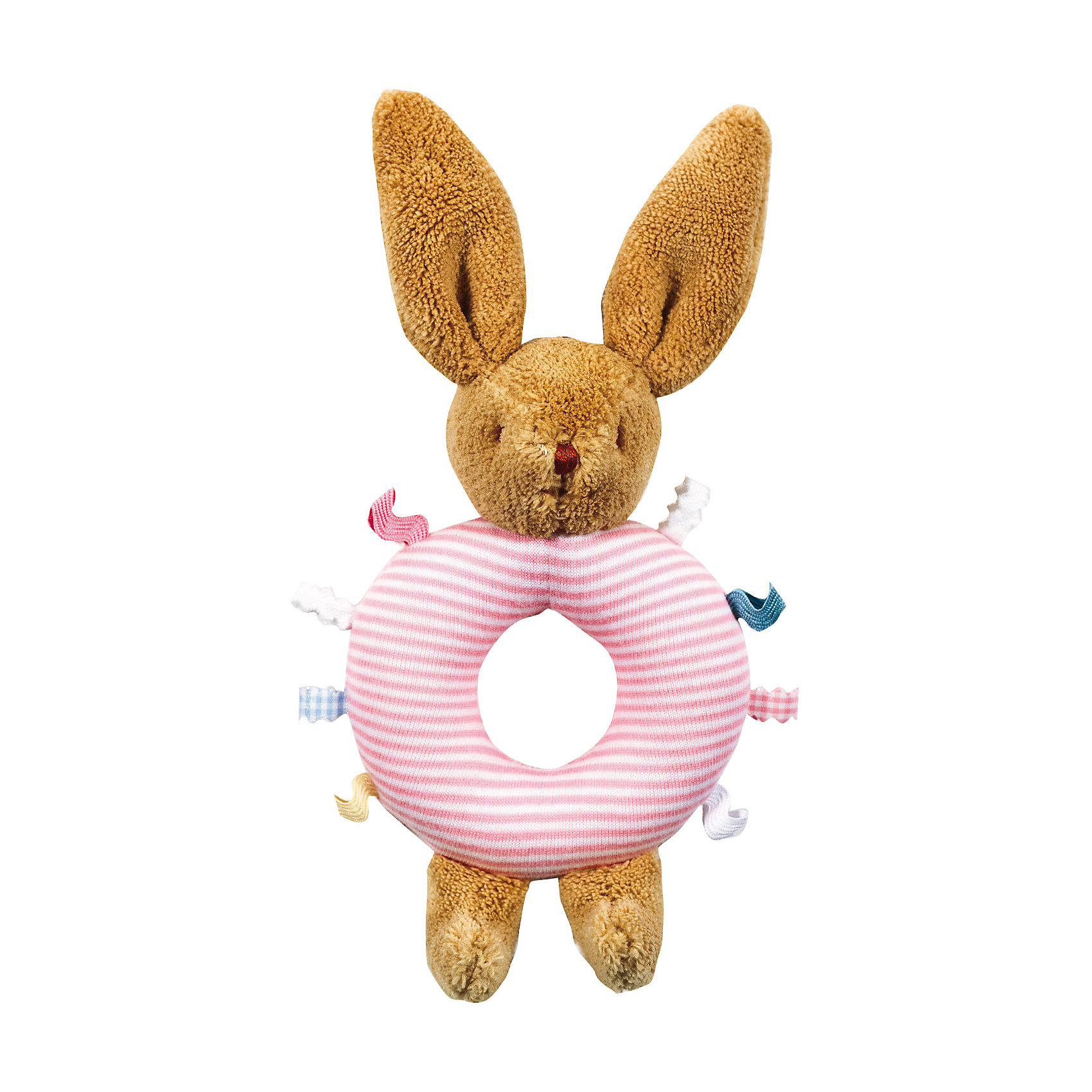 TROUSSELIER Погремушка-кольцо Зайчик, розовое, 16см, Trousselier trousselier светильник ночник балерина trousselier белый