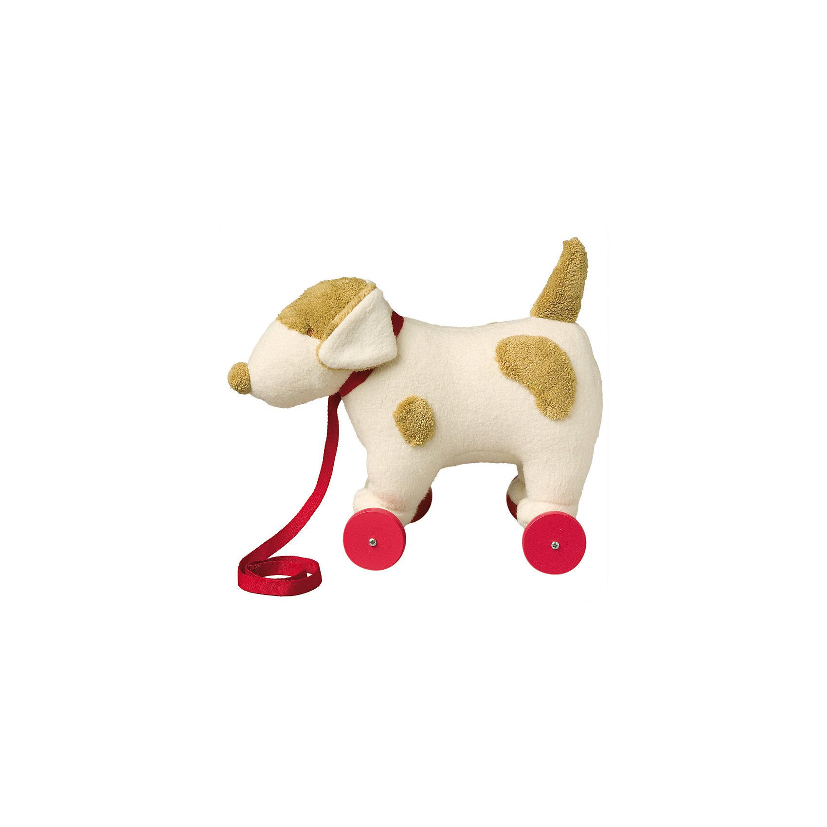 TROUSSELIER Мягкая игрушка Собака на колесиках с поводком, 32см, Trousselier trousselier светильник ночник балерина trousselier белый