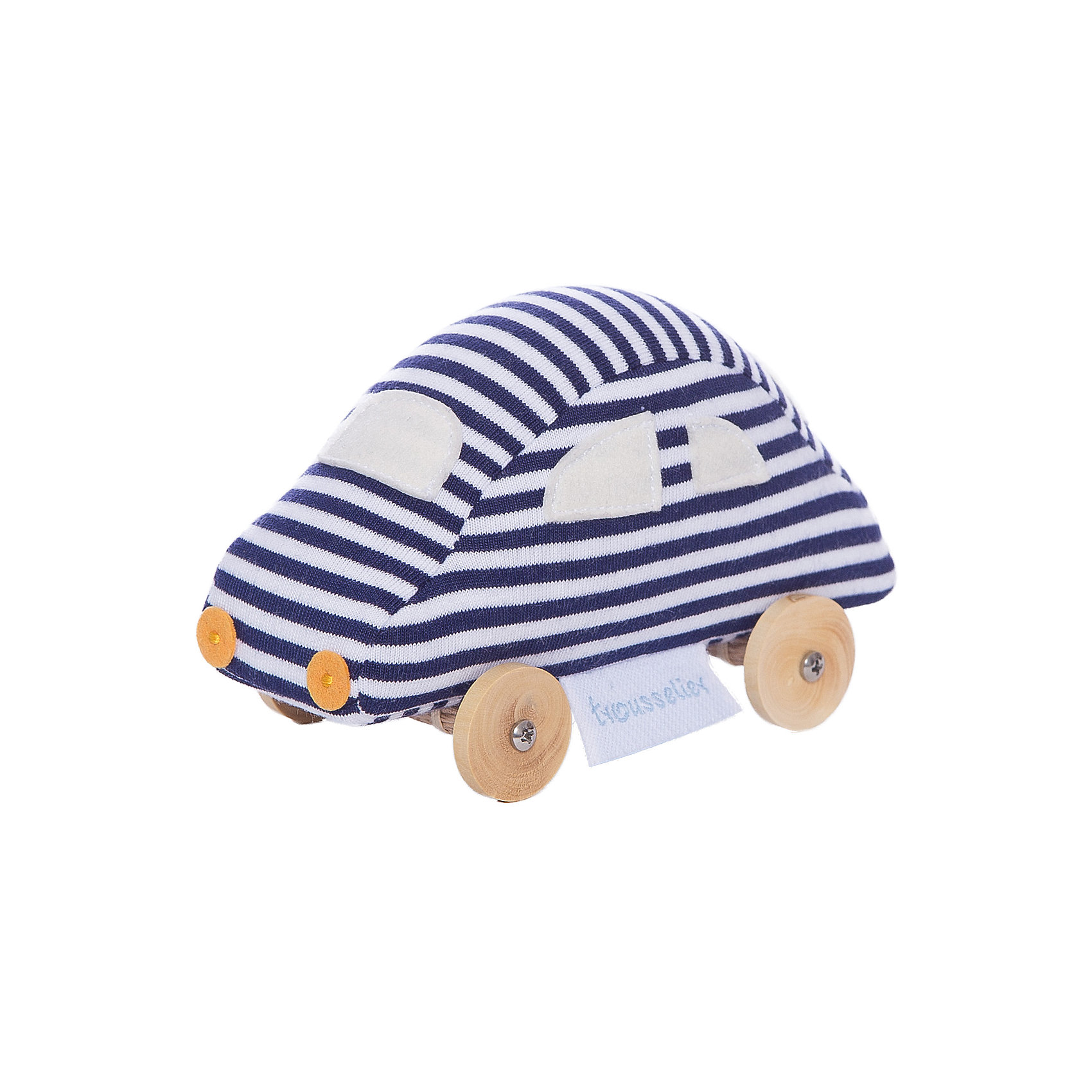 Мягкая игрушка Машинка на колесиках, 13см&#13;, TrousselierМягкая игрушка Машинка на колесиках, 13см, Trousselier (Трусельер).<br><br>Характеристики:<br><br>- Длина: 13см.<br>- Материал: дерево, хлопок<br>- Уход: ручная стирка<br><br>Игрушка-каталка, выполненная в виде забавной машины, непременно, привлечет к себе внимание ребенка. Игрушка изготовлена из мягкого гипоаллергенного материала, колесики из натурального дерева и абсолютно безопасна для детей. Оригинальная форма и яркие цвета стимулируют развитие малыша. В процессе игры у ребенка развивается моторика, координация движений, цветовое восприятие, а также тактильные ощущения. Французский бренд Trousselier (Трусельер) вот уже более 40 лет создает уникальные коллекции детских игрушек. Вся продукция изготавливается из натуральных материалов с соблюдением высоких европейских стандартов качества.<br><br>Мягкую игрушку Машинка на колесиках, 13см, Trousselier (Трусельер) можно купить в нашем интернет-магазине.<br><br>Ширина мм: 155<br>Глубина мм: 155<br>Высота мм: 70<br>Вес г: 100<br>Возраст от месяцев: -2147483648<br>Возраст до месяцев: 2147483647<br>Пол: Унисекс<br>Возраст: Детский<br>SKU: 4964797