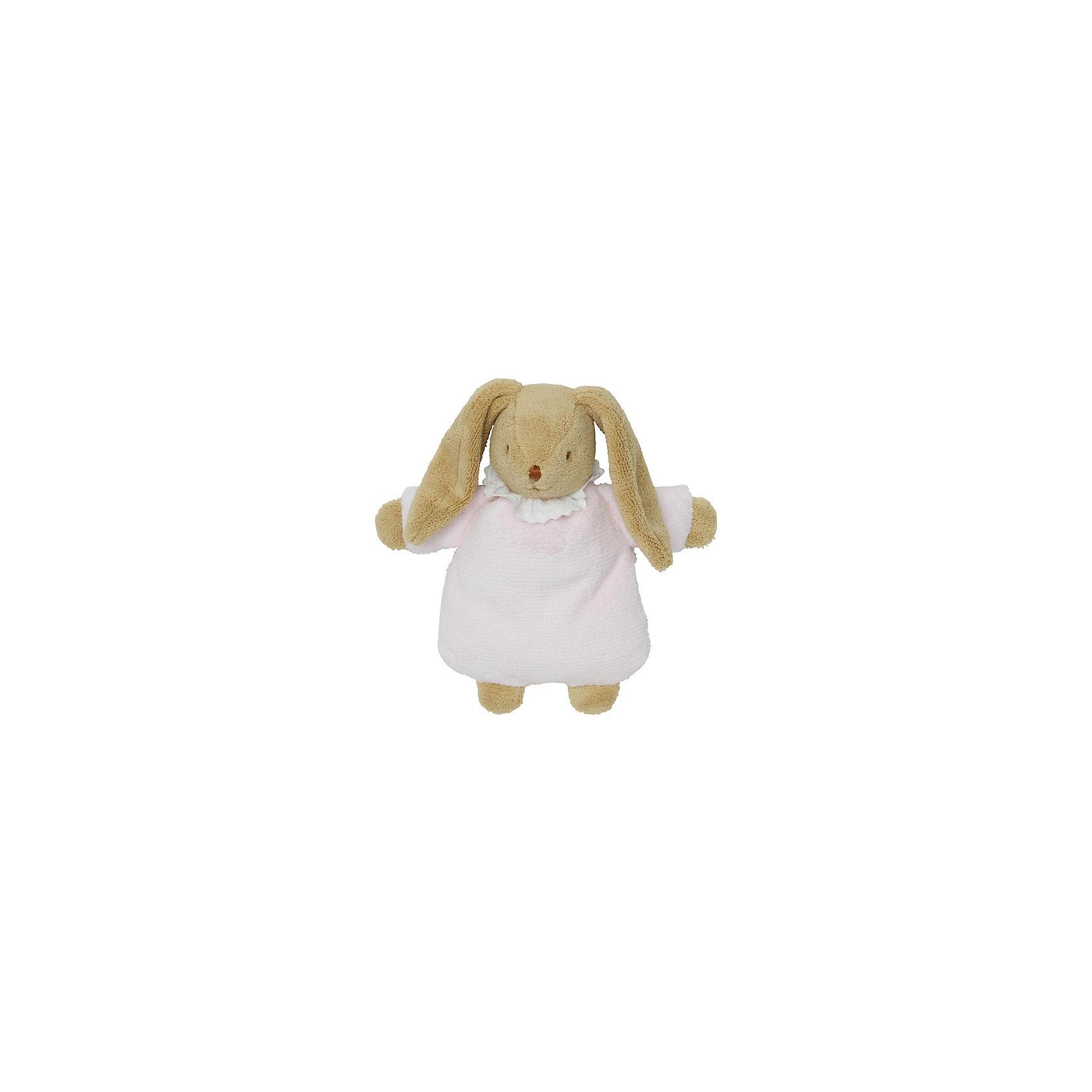 trousselier мягкая озвученная игрушка зайка цвет фуксия 25 см TROUSSELIER Мягкая погремушка Зайка, розовый, 19см, Trousselier