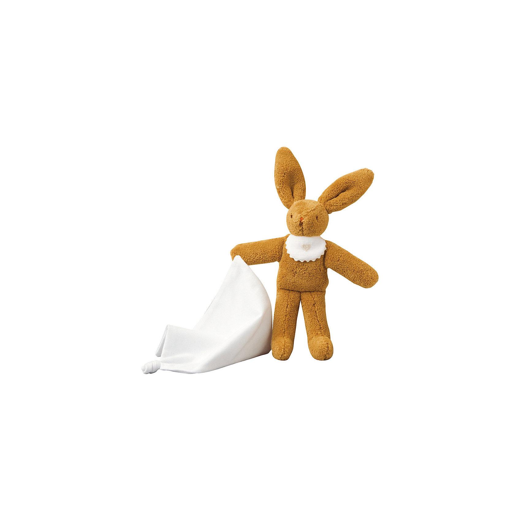 TROUSSELIER Мягкая игрушка Зайка с платочком, 20см, Trousselier trousselier мягкая игрушка зайка с музыкой розовый 25см trousselier