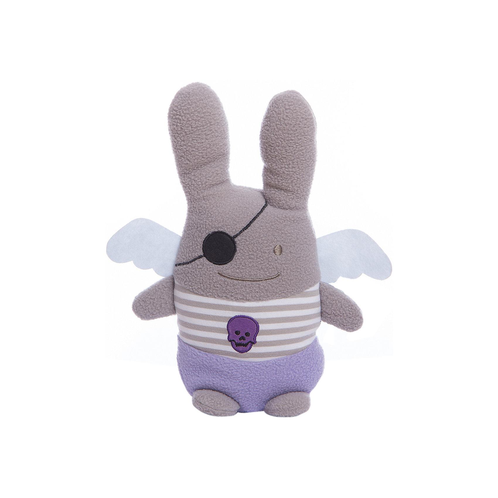 Мягкая игрушка Зайка с крылышками Пират, 26см, TrousselierЗайцы и кролики<br>Мягкая игрушка Зайка с крылышками Пират, 26см, Trousselier<br><br>Характеристики:<br><br>• Размер: 26 см<br>• Материал: текстиль, полиэстер, хлопок<br>• Возраст: от 0 месяцев<br><br>Серенький зайка с милыми крылышками станет другом для вашего малыша. Натуральный материал не вызывает аллергию и полностью безопасен для нежной кожи. Малыш сможет спать с зайкой, с первых дней своей жизни, а дальше играть с ним представляя себя капитаном пиратского судна.<br><br>Мягкая игрушка Зайка с крылышками Пират, 26см, Trousselier можно купить в нашем интернет-магазине.<br><br>Ширина мм: 190<br>Глубина мм: 190<br>Высота мм: 90<br>Вес г: 240<br>Возраст от месяцев: -2147483648<br>Возраст до месяцев: 2147483647<br>Пол: Унисекс<br>Возраст: Детский<br>SKU: 4964805