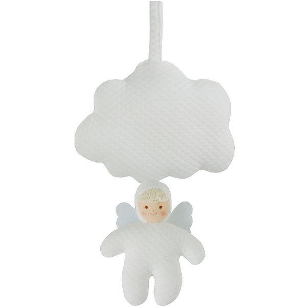Мягкая игрушка Облачко и Ангел, музыкальная, TrousselierМузыкальные мягкие игрушки<br>Мягкая игрушка Облачко и Ангел, музыкальная, Trousselier (Трусельер).<br><br>Характеристики:<br><br>- Высота игрушки: 13 см.<br>- Материал: хлопковый велюр, пластик<br>- Цвет: белый<br>- Мелодия: Колыбельная Иоганесс Брамс<br><br>Подвесная мягкая музыкальная игрушка Облачко и Ангел, непременно, привлечет внимание вашего малыша. Игрушка выполнена в виде мягкого белого облачка и ангела на шнурке. Стоит только потянуть ангела, и малыш услышит приятную мелодию, которая будет играть до тех пор, пока шнурок не вернется в исходное положение. Мелодия успокоит ребенка и поможет ему уснуть. А благодаря специальной петле с липучкой, игрушку можно прикрепить к кроватке или прогулочной коляске. Игрушка способствует развитию цветового и звукового восприятия и мелкой моторики рук. Французский бренд Trousselier (Трусельер) вот уже более 40 лет создает уникальные коллекции детских игрушек. Вся продукция изготавливается из натуральных материалов с соблюдением высоких европейских стандартов качества.<br><br>Мягкую игрушку Облачко и Ангел, музыкальную, Trousselier (Трусельер) можно купить в нашем интернет-магазине.<br><br>Ширина мм: 155<br>Глубина мм: 155<br>Высота мм: 70<br>Вес г: 220<br>Возраст от месяцев: -2147483648<br>Возраст до месяцев: 2147483647<br>Пол: Унисекс<br>Возраст: Детский<br>SKU: 4964806