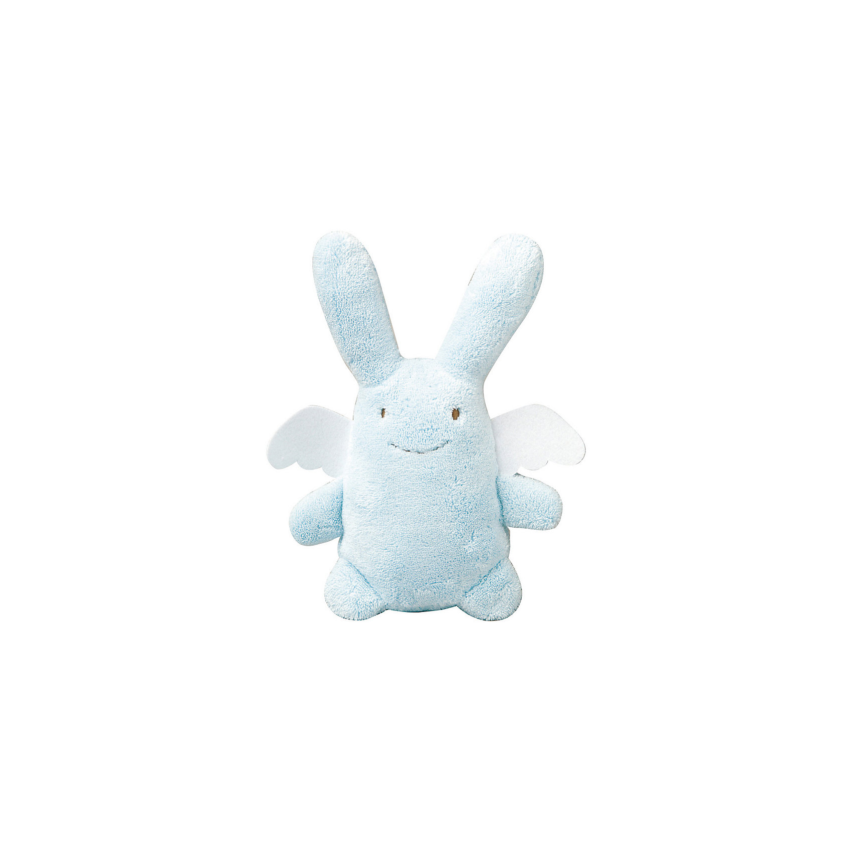 Мягкая игрушка Зайка с крылышками, музыкальный, голубой, 24см&#13;, TrousselierЗайцы и кролики<br>Мягкая игрушка Зайка с крылышками, музыкальный, голубой, 24см, Trousselier (Трусельер).<br><br>Характеристики:<br><br>- Высота игрушки: 24 см.<br>- Материал: хлопковый велюр<br>- Цвет: голубой<br>- Уход: возможна ручная стирка игрушки<br><br>Игрушка представляет собой очаровательного, очень мягкого зайчика с ангельскими крылышками. Зайчик выполнен в приятном голубом цвете, крылышки в белом – сочетание этих цветов смотрится очень органично, создавая нежный образ в лаконичном дизайне. Зайчик мило улыбается и раскинул лапки в сторону, как будто только и ждет, чтобы его обняли. Игрушка имеет музыкальный блок, который может воспроизводить нежную мелодию, если нажать на туловище зайки. Зайчика очень удобно держать маленькому ребенку. Его можно укладывать спать вместе с малышом в коляску или кроватку. С таким другом кроха будет быстрее погружаться в мир снов и спокойнее спать. Игрушка изготовлена из мягкого, приятного на ощупь, гипоаллергенного материала - хлопкового велюра. Французский бренд Trousselier (Трусельер) вот уже более 40 лет создает уникальные коллекции детских игрушек. Вся продукция изготавливается из натуральных материалов с соблюдением высоких европейских стандартов качества.<br><br>Мягкую игрушку Зайка с крылышками, музыкальную, голубую, 24см, Trousselier (Трусельер) можно купить в нашем интернет-магазине.<br><br>Ширина мм: 190<br>Глубина мм: 190<br>Высота мм: 90<br>Вес г: 290<br>Возраст от месяцев: -2147483648<br>Возраст до месяцев: 2147483647<br>Пол: Унисекс<br>Возраст: Детский<br>SKU: 4964808
