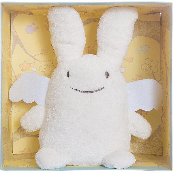 Мягкая игрушка Зайка с крылышками, музыкальный, 24смМузыкальные мягкие игрушки<br>Мягкая игрушка Зайка с крылышками, музыкальный, 24см, Trousselier<br><br>Характеристики:<br><br>• Размер: 24 см<br>• Материал: текстиль, полиэстер, хлопок<br>• Возраст: от 0 месяцев<br><br>Нежный бежевый зайка с милыми крылышками станет другом для вашего малыша. Натуральный материал не вызывает аллергию и полностью безопасен для нежной кожи. Малыш сможет спать с зайкой, с первых дней своей жизни. А если малышу трудно будет уснуть, зайка споет ему нежную песенку.<br><br>Мягкая игрушка Зайка с крылышками, музыкальный, 24см, Trousselier можно купить в нашем интернет-магазине.<br>Ширина мм: 190; Глубина мм: 190; Высота мм: 90; Вес г: 290; Возраст от месяцев: -2147483648; Возраст до месяцев: 2147483647; Пол: Унисекс; Возраст: Детский; SKU: 4964809;