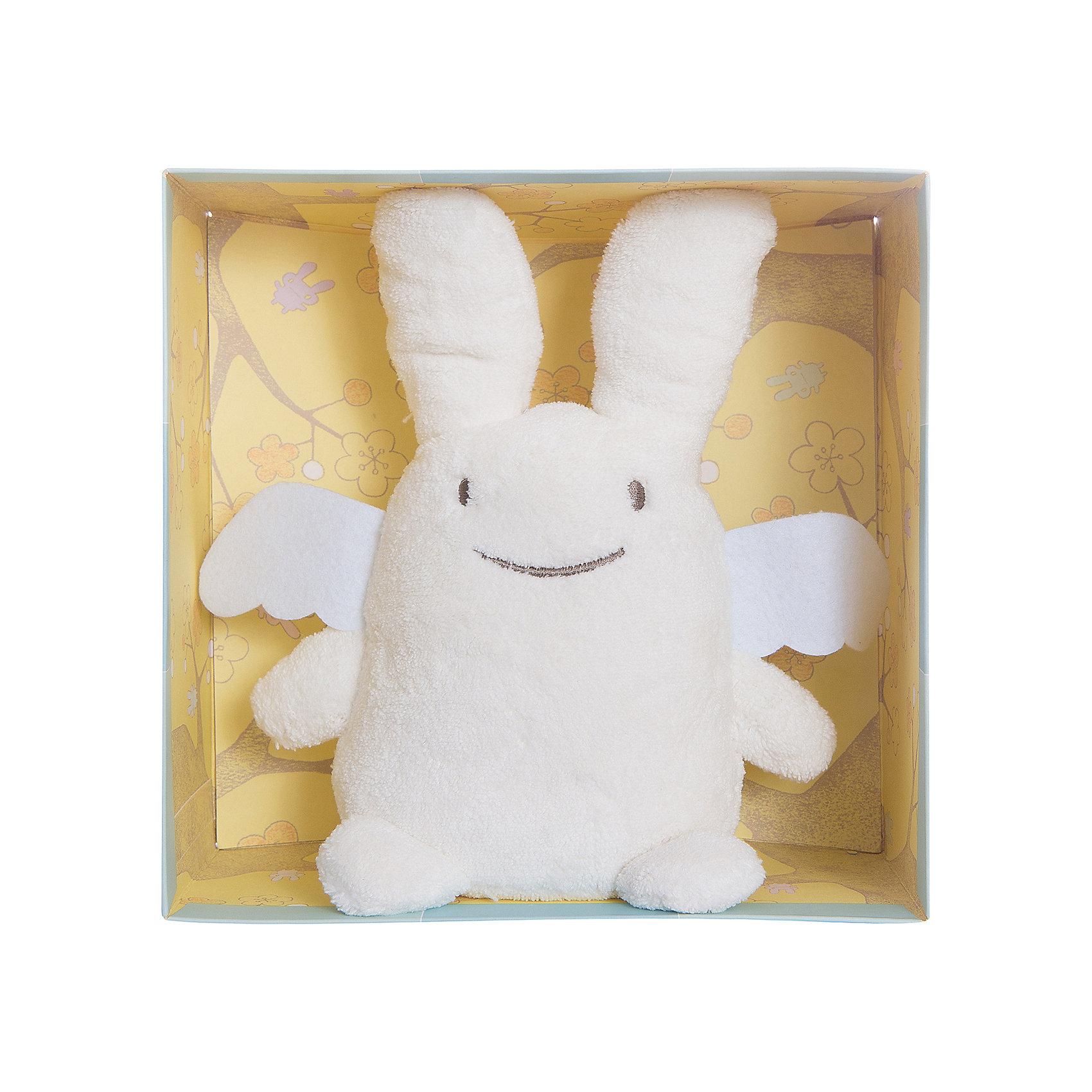 trousselier мягкая озвученная игрушка зайка цвет фуксия 25 см TROUSSELIER Мягкая игрушка Зайка с крылышками, музыкальный, 24см, Trousselier