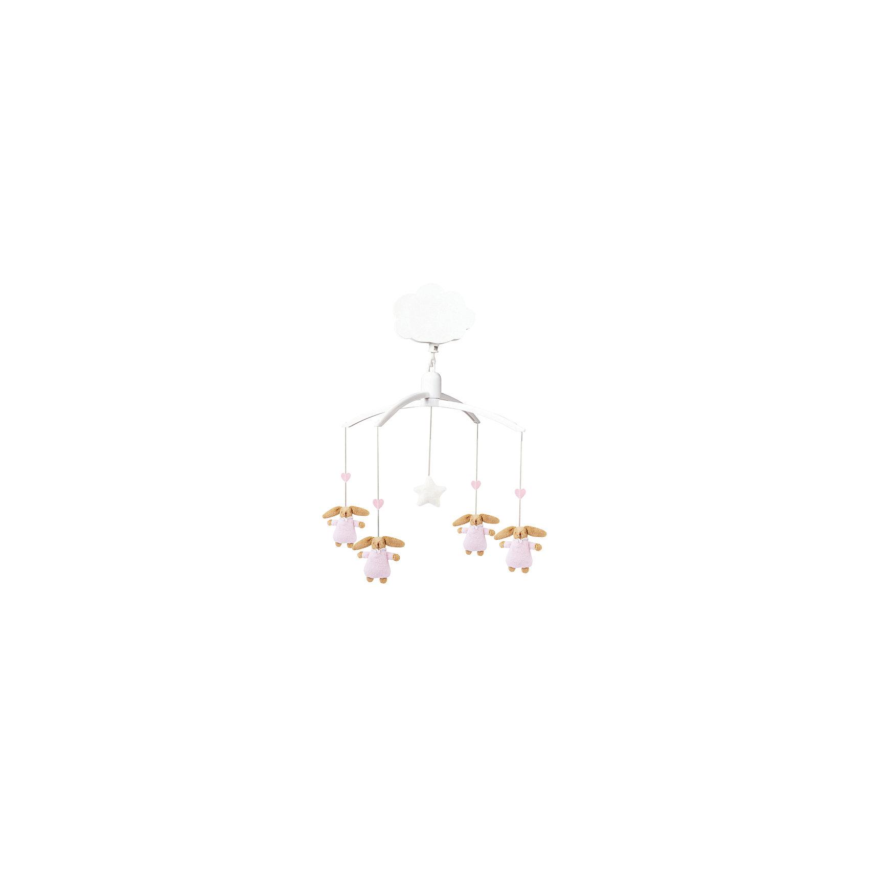 TROUSSELIER Музыкальный мобиль с мягкими игрушками, розовый, Trousselier trousselier светильник ночник балерина trousselier белый