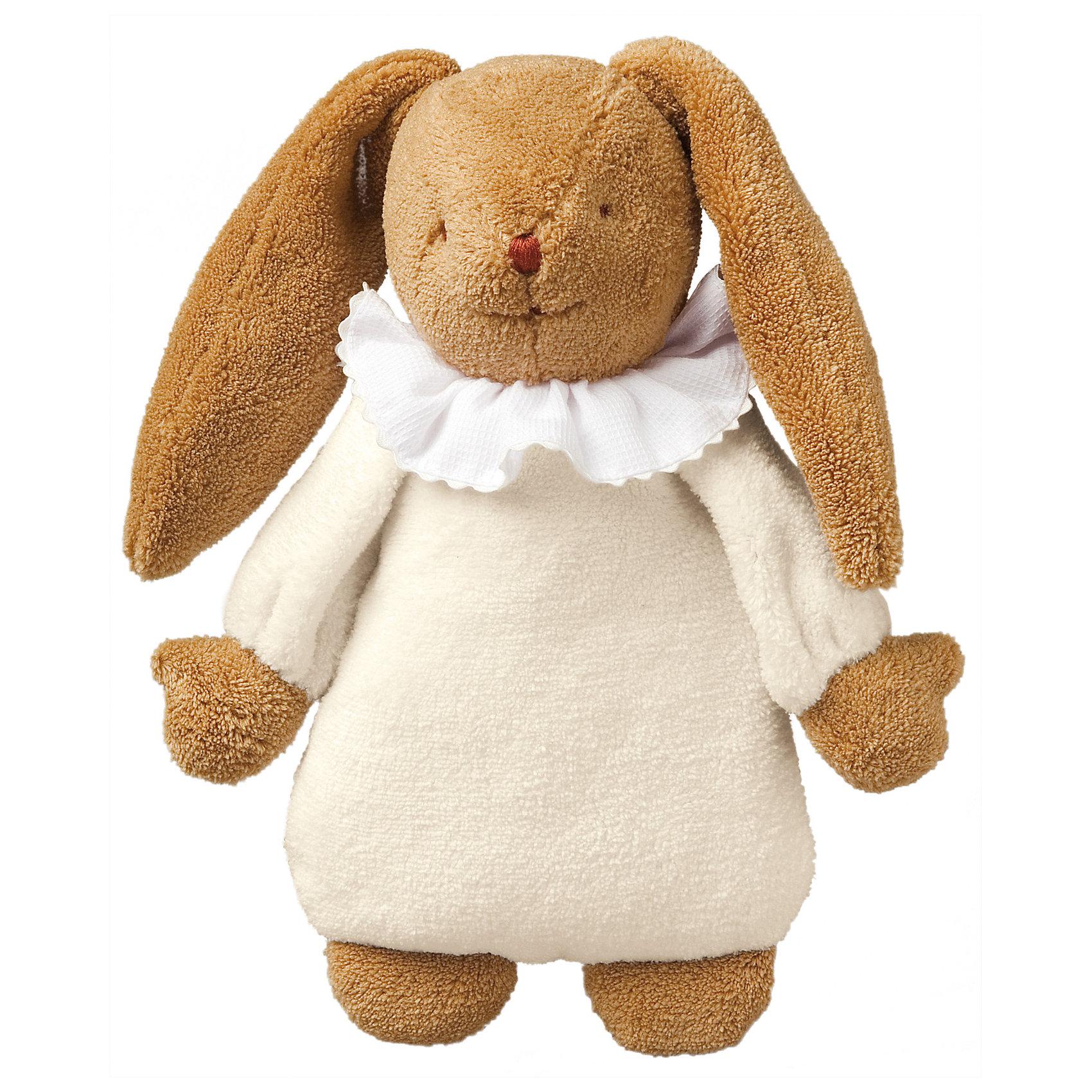 Мягкая игрушка Зайка с музыкой, цвет слоновой кости, 25см&#13;, TrousselierМягкая игрушка Зайка с музыкой, цвет слоновой кости, 25см, Trousselier<br><br>Характеристики:<br><br>• Размер: 25 см<br>• Материал: текстиль, полиэстер, хлопок<br>• Возраст: от 0 месяцев<br><br>Веселый зайчик в платье станет другом для вашего малыша. Натуральный материал не вызывает аллергию и полностью безопасен для нежной кожи. Малыш сможет спать с зайкой, с первых дней своей жизни. А если малышу трудно будет уснуть, зайка споет ему нежную песенку.<br><br>Мягкая игрушка Зайка с музыкой, цвет слоновой кости, 25см, Trousselier можно купить в нашем интернет-магазине.<br><br>Ширина мм: 190<br>Глубина мм: 190<br>Высота мм: 90<br>Вес г: 330<br>Возраст от месяцев: -2147483648<br>Возраст до месяцев: 2147483647<br>Пол: Унисекс<br>Возраст: Детский<br>SKU: 4964816