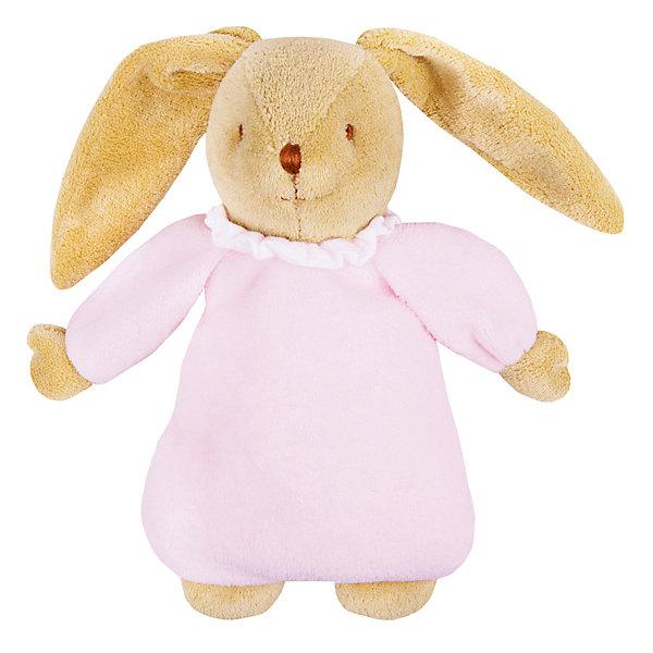 Мягкая игрушка Зайка с музыкой, розовый, 25см&#13;, TrousselierМузыкальные мягкие игрушки<br>Мягкая игрушка Зайка с музыкой, розовый, 25см, Trousselier<br><br>Характеристики:<br><br>• Размер: 25 см<br>• Материал: текстиль, полиэстер, хлопок<br>• Возраст: от 0 месяцев<br><br>Веселый зайчик в платье станет другом для вашего малыша. Натуральный материал не вызывает аллергию и полностью безопасен для нежной кожи. Малыш сможет спать с зайкой, с первых дней своей жизни. А если малышу трудно будет уснуть, зайка споет ему нежную песенку.<br><br>Мягкая игрушка Зайка с музыкой, розовый, 25см, Trousselier можно купить в нашем интернет-магазине.<br><br>Ширина мм: 190<br>Глубина мм: 190<br>Высота мм: 90<br>Вес г: 330<br>Возраст от месяцев: -2147483648<br>Возраст до месяцев: 2147483647<br>Пол: Женский<br>Возраст: Детский<br>SKU: 4964817