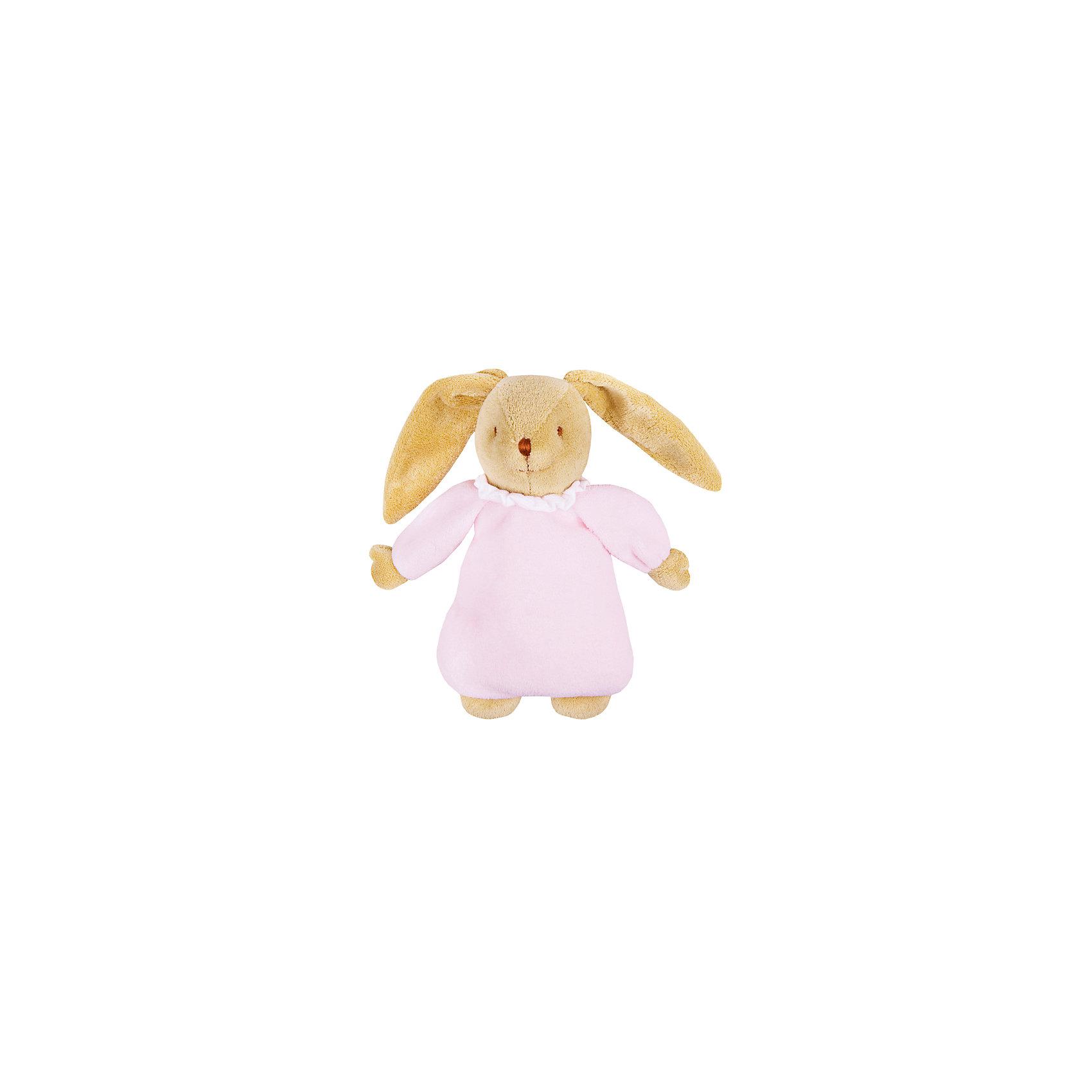 TROUSSELIER Мягкая игрушка Зайка с музыкой, розовый, 25см, Trousselier trousselier мягкая игрушка зайка с музыкой розовый 25см trousselier