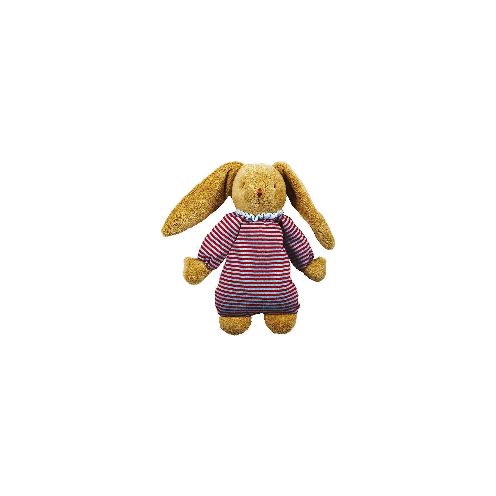 TROUSSELIER Мягкая игрушка Зайка с музыкой, в полоску, 25см, Trousselier trousselier мягкая игрушка зайка с музыкой розовый 25см trousselier