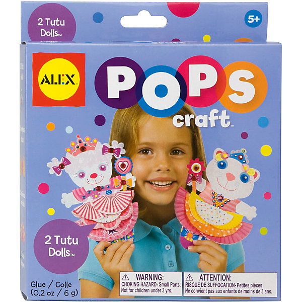 Набор для творчества POPS CRAFT КуколкиБумага<br>Набор для творчества POPS CRAFT Куколки от бренда Alex создан для девочек, начиная с пятилетнего возраста. Ребенок может самостоятельно изготовить двух забавных кукол. Для этого в наборе можно найти все необходимые для этого детали. К набору прилагается инструкция по изготовлению кукол, в которой разберется даже малыш. Делая кукол, ребёнок не только будет получать положительные эмоции, но так же будет развивать мелкую моторику рук. Данный товар вы можете приобрести в нашем интернет - магазине.<br><br>В набор входит:<br>-бумажные заготовки 24 шт.<br><br>Дополнительная информация:<br>-Бренд-Alex(Алекс)<br>-Для девочек<br>-Упаковка: картонная коробка<br>-Страна обладатель бренда: США<br>-Возраст: от 5 лет<br><br>Ширина мм: 38<br>Глубина мм: 183<br>Высота мм: 210<br>Вес г: 700<br>Возраст от месяцев: 60<br>Возраст до месяцев: 96<br>Пол: Женский<br>Возраст: Детский<br>SKU: 4965538