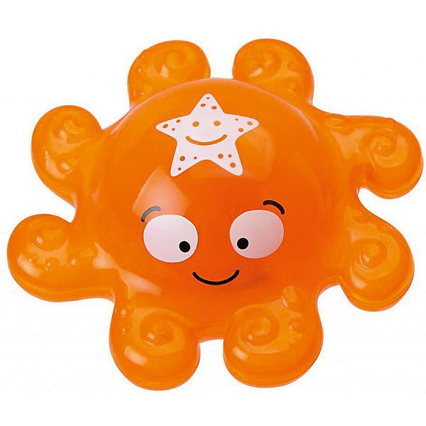Игрушка для ванны Осьминог, ALEXИгрушки для ванной<br>Игрушка для ванны Осьминог, ALEX(Алекс).<br>Купание превратится в веселую игру вместе с забавной игрушкой-брызгалкой «Осьминог». Игрушка для ванной «Осьминог»от американского бренда  Alex (Алекс)  выполнена из высококачественного пластика в виде забавного осьминога оранжевого цвета, выпускающего фонтанчик воды. Он отлично держится на воде и может плавать в ванной, не боясь шампуней и погружений под воду. Игрушка обладает световыми эффектами - при нажатии светится.<br>Игрушка для ванной «Осьминог» способствует развитию воображения, цветового восприятия, тактильных ощущений и мелкой моторики рук.<br>Рекомендуется докупить 3 батарейки типа LR44 (товар комплектуется демонстрационными).<br>Дополнительная информация:<br><br>- Размеры упаковки: 7 ? 15 ? 18 см.<br>- Материал - пластик.<br><br>Игрушку для ванны Осьминог, ALEX(Алекс) можно купить в нашем интернет - магазине.<br><br>Ширина мм: 150<br>Глубина мм: 180<br>Высота мм: 70<br>Вес г: 220<br>Возраст от месяцев: 36<br>Возраст до месяцев: 84<br>Пол: Унисекс<br>Возраст: Детский<br>SKU: 4965748