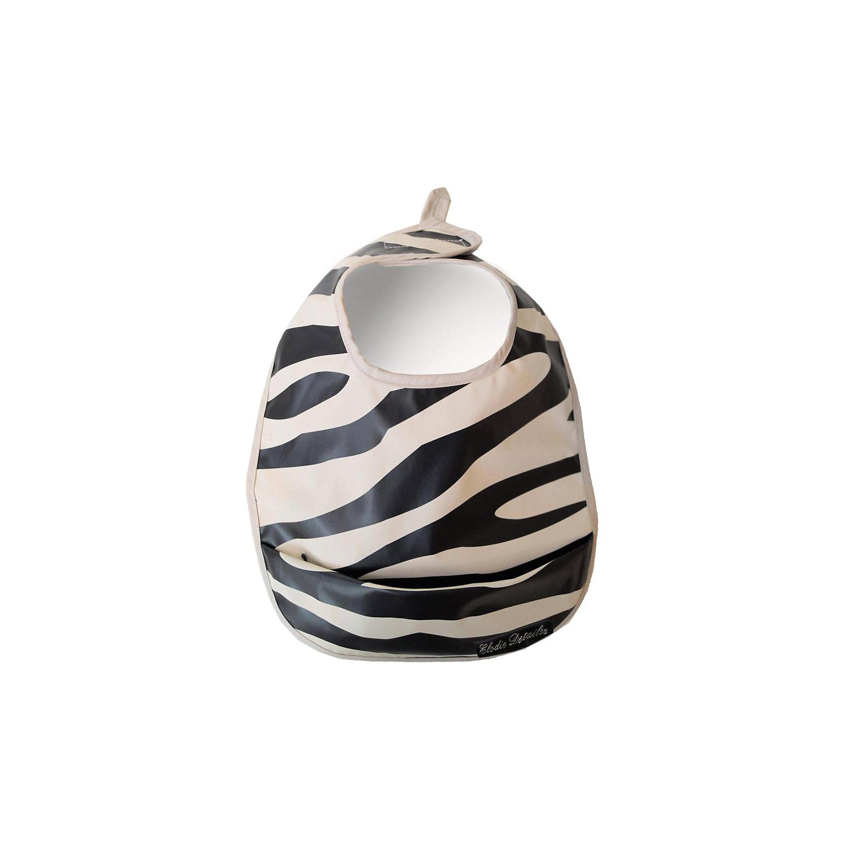 Нагрудник полиуретан Zebra Sunshine, Elodie DetailsНагрудник полиуретан Zebra Sunshine, Elodie Details (Элоди Дитейлс)<br><br>Характеристики:<br><br>• водоотталкивающий материал<br>• карман для крошек и остатков пищи<br>• надежная липучка<br>• подходит для стиральной машины<br>• удобная петелька<br>• размер: 36х26 см<br>• материал: полиуретан<br><br>Нагрудник Zebra Sunshine- незаменимый помощник для мамы во время кормления малыша. Нагрудник впитает всю влагу, чтобы малыш оставался сухим во время еды. Если кроха уронит кусочки пищи или прольет жидкость - нижний кармашек удержит их, не позволяя испачкать одежду. Нагрудник застегивается на надежную липучку. Изделие легко очистить и можно постирать в машинке при сильных загрязнениях. Необычный дизайн в виде зебры привлечет внимание детей и взрослых. С таким нагрудником ваш ребенок всегда будет сытым и чистым!<br><br>Нагрудник полиуретан Zebra Sunshine, Elodie Details (Элоди Дитейлс) можно купить в нашем интернет-магазине.<br><br>Ширина мм: 350<br>Глубина мм: 300<br>Высота мм: 13<br>Вес г: 90<br>Возраст от месяцев: 0<br>Возраст до месяцев: 36<br>Пол: Унисекс<br>Возраст: Детский<br>SKU: 4966086