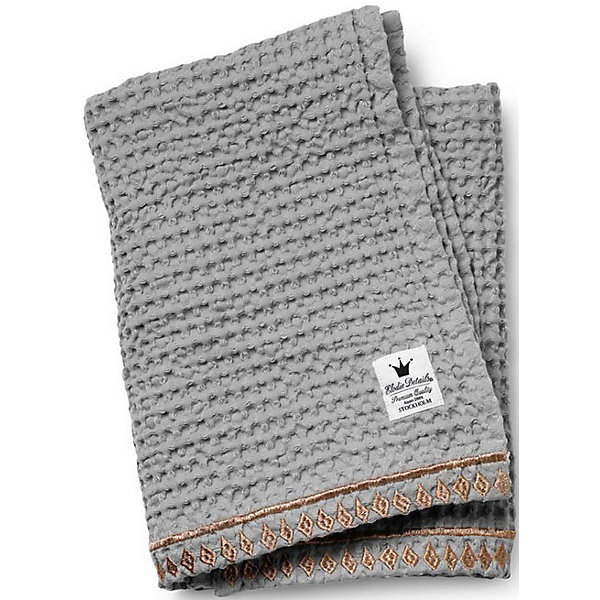 Плед Gilded Grey, Elodie Details (вафельный узор)Пледы и покрывала<br>Плед Gilded Grey, Elodie Details (Элоди Дитейлс) (вафельный узор)<br><br>Характеристики:<br><br>• стильный узор<br>• украшен вышивкой<br>• отлично сохраняет тепло и мягкость<br>• материал: 100% органический хлопок<br>• размер: 70х100 см<br><br>Плед Gilded Grey изготовлен из органического хлопка, который подарит вам уют и мягкость даже после многочисленных стирок. Плед имеет привлекательный вафельный узор и вышивку в марокканском стиле по краю. Использовать его удобно не только дома, но и на прогулке.<br><br>Плед Gilded Grey, Elodie Details (Элоди Дитейлс) (вафельный узор) вы можете купить в нашем интернет-магазине.<br><br>Ширина мм: 370<br>Глубина мм: 250<br>Высота мм: 40<br>Вес г: 430<br>Возраст от месяцев: 0<br>Возраст до месяцев: 36<br>Пол: Унисекс<br>Возраст: Детский<br>SKU: 4966106