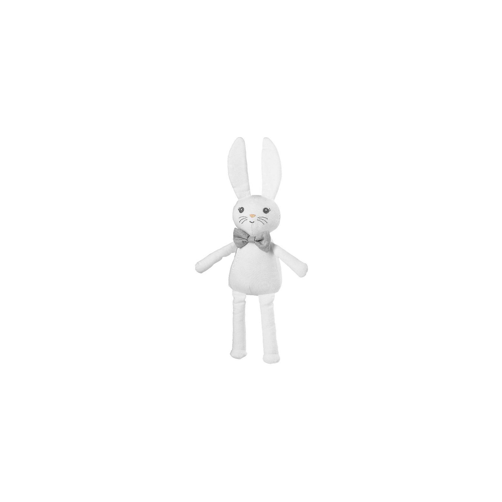 Игрушка Зайчик Gentle Jackson, Elodie Details, белыйМягкие игрушки<br>Игрушка Elodie Details Gentle Jackson  Уникальная троица игрушек-кроликов от Elodie Details. Каждая из игрушек индивидуальна и имеет своей неповторимый характер и дизайн!;Игрушка непременно;станет любимцем вашего малыша;и его верным спутником в приключениях дома или на природе.  - материал 100% хлопок - длина 41 см (включая уши)<br><br>Ширина мм: 200<br>Глубина мм: 60<br>Высота мм: 120<br>Вес г: 73<br>Возраст от месяцев: 0<br>Возраст до месяцев: 36<br>Пол: Унисекс<br>Возраст: Детский<br>SKU: 4966117
