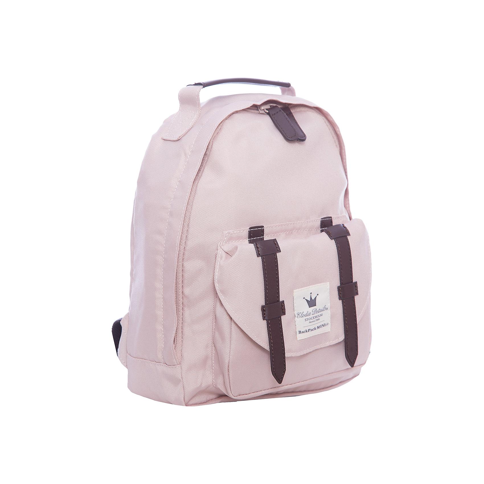 Рюкзак детский Powder Pink, Elodie DetailsДетские рюкзаки<br>Рюкзак;Elodie Details Powder Pink  Стильный рюкзак для модных малышей и дошкольников. Идеально подходит для первых пикников или, к примеру, для транспортировки любимого плюшевого медведя в гости к бабушке. Главное - чтобы ваше новое приключение было стильным!;Высота 28 см, ширина 21 см, объем 7 л. ;Новая коллекция ;рюкзаков Elodie Details представляет собой;стиль унисекс и подходит, как мальчикам, так и девочкам.;  - в комплекте;сиденье из термо-материала, чтобы малышу было на чем сидеть во время отдыха; - вертикальный термо-карман на боковой части рюкзака, чтобы поддерживать температуру жидкости в бутылочке (тепло/холод); - мягкие регулируемые ремни; - магнитные замки, удерживающие плечевые ремни от скольжения; - с помощью молнии открываются сверху донизу, чтобы легко достать завтрак или другое содержимое;- оригинальные детали из кожи ; ;<br><br>Ширина мм: 280<br>Глубина мм: 50<br>Высота мм: 260<br>Вес г: 291<br>Возраст от месяцев: 12<br>Возраст до месяцев: 72<br>Пол: Женский<br>Возраст: Детский<br>SKU: 4966138