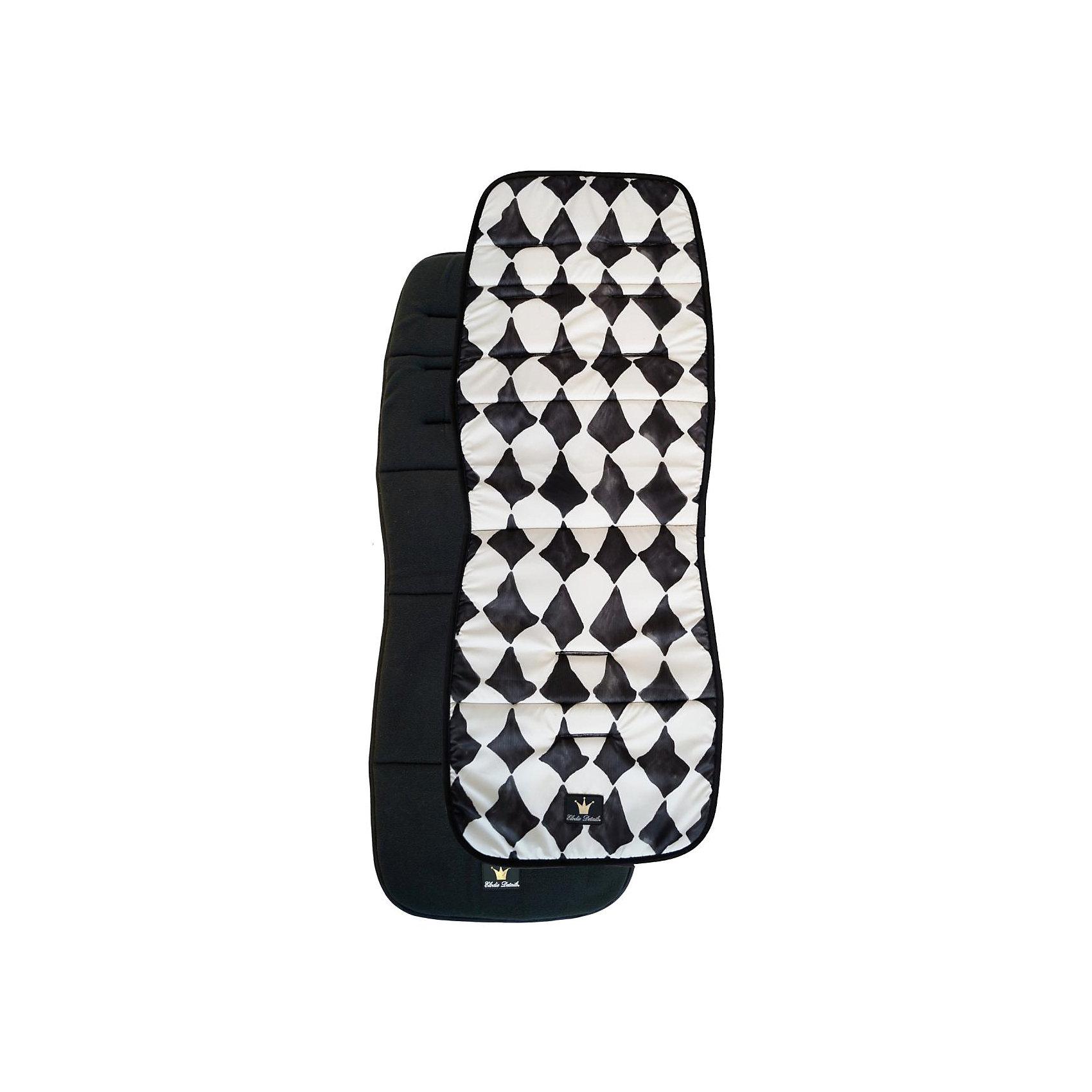 Матрасик в коляску Graphic Grace, Elodie DetailsМатрасик в коляску Elodie Details          Мягкий двусторонний матрасик удобен тем, что его можно использовать как в холодное, так и в теплое время года. Зимняя сторона выполнена из теплого флиса и послужит надежным подогревом малышу. Для летней стороны использован материал рипстоп - ткань со специальной уплотненной структурой плетения, которая отличается высокой прочностью и простотой в уходе.              - 2 стороны из разных материалов              - летняя сторона легко моется              - матрасик является дополнительным удобством для ребенка и родителей: прогулка становится комфортнее, а множество вариантов дизайна коляски, которые можно получить - прибавят настроения              - помогает поддерживать чистоту - если во время прогулки матрасик запачкается - его можно перевернуть на другую сторону, а если еще раз запачкается - можно вообще снять             - три уровня отверстий для ремней безопасности коляски по высоте            - состав - 55% cotton, 45% polyester                         Размеры:            - ширина спинки 32 см            - ширина сиденья 33 см            - вся длина 85 см.            - ширина середины матрасика в зауженой части 29 см                      На фотографии матрасик показан на коляске Elodie Details Stockholm. Параметры ее сиденья: ширина 33 см, глубина с подножкой 36 см, без подножки 21 см; спинка: ширина 31 см, высота 46 см.                     Коляски, конверты, нагрудники, клипсы для пустышек, сумки для мам - все это необходимые вещи повседневной жизни мамы и ребенка. Шведская компания Elodie detalis создает эти предметы уникальными и неповторимыми. Превосходное качество, стиль и практичность сделали компанию популярной во всем мире.<br><br>Ширина мм: 440<br>Глубина мм: 320<br>Высота мм: 40<br>Вес г: 300<br>Возраст от месяцев: 6<br>Возраст до месяцев: 36<br>Пол: Унисекс<br>Возраст: Детский<br>SKU: 4966155