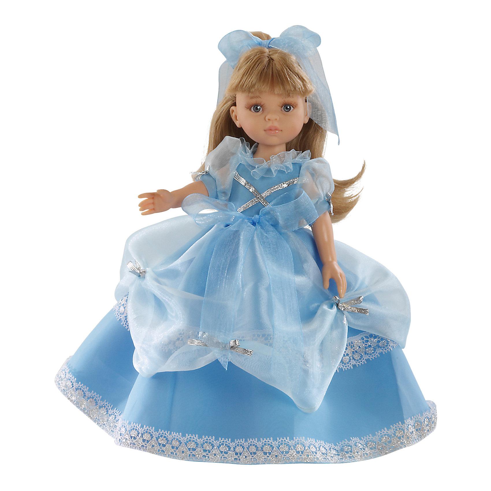 Кукла Карла принцесса, 32см, Paola ReinaКлассические куклы<br>Кукла изготовлена из винила; глаза выполнены в виде кристалла из прозрачного твердого пластика; волосы сделаны из высококачественного нейлона.<br><br>Ширина мм: 230<br>Глубина мм: 230<br>Высота мм: 410<br>Вес г: 708<br>Возраст от месяцев: 36<br>Возраст до месяцев: 144<br>Пол: Женский<br>Возраст: Детский<br>SKU: 4966350
