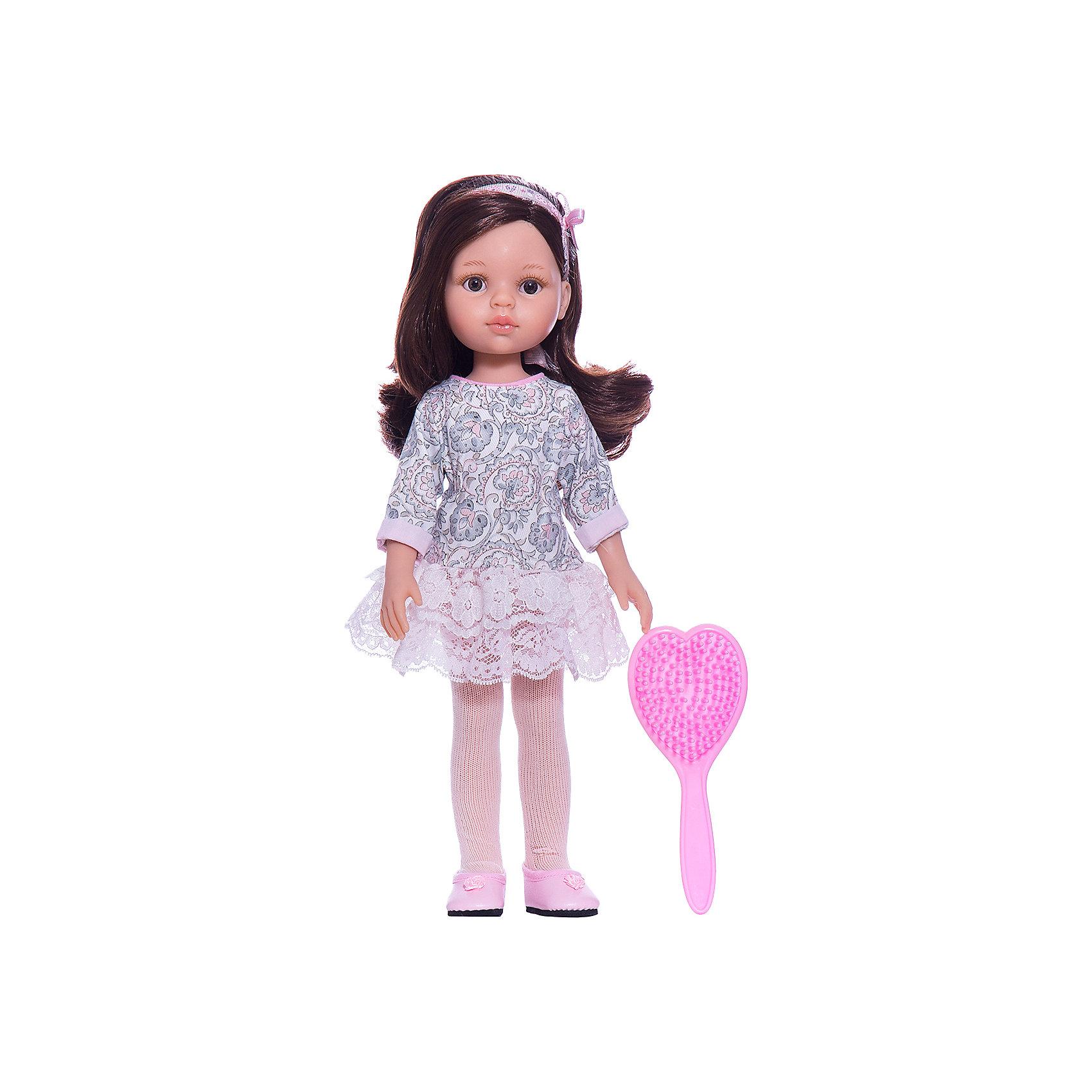 Кукла Кэрол, 32 см, Paola ReinaКуклы<br>Кукла изготовлена из винила; глаза выполнены в виде кристалла из прозрачного твердого пластика; волосы сделаны из высококачественного нейлона.<br><br>Ширина мм: 110<br>Глубина мм: 230<br>Высота мм: 410<br>Вес г: 667<br>Возраст от месяцев: 36<br>Возраст до месяцев: 144<br>Пол: Женский<br>Возраст: Детский<br>SKU: 4966352