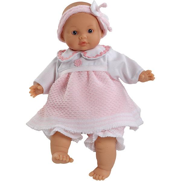 Кукла Амели, 32см, Paola ReinaБренды кукол<br>Кукла Амели, Paola Reina<br><br>Характеристики куклы:<br><br>• высота куклы: 32 см;<br>• материал (личико, ручки и ножки): ароматизированный винил, запах ванили;<br>• тельце куклы: мягконабивное;<br>• одежда выполнена из текстиля, снимается.<br><br>Кукла Амели - розовощекий пупс с пухлыми щечками и губками. Глазки не закрываются, волосиков и ресничек нет. Заботливая девочка с нежностью относится к кукле, качает ее, переодевает, водит на прогулки. В процессе игры проявляется забота и внимание.<br><br>Куклу Амели, 32 см, Paola Reina можно купить в нашем интернет-магазине.<br><br>Ширина мм: 230<br>Глубина мм: 230<br>Высота мм: 410<br>Вес г: 600<br>Возраст от месяцев: 36<br>Возраст до месяцев: 144<br>Пол: Женский<br>Возраст: Детский<br>SKU: 4966365