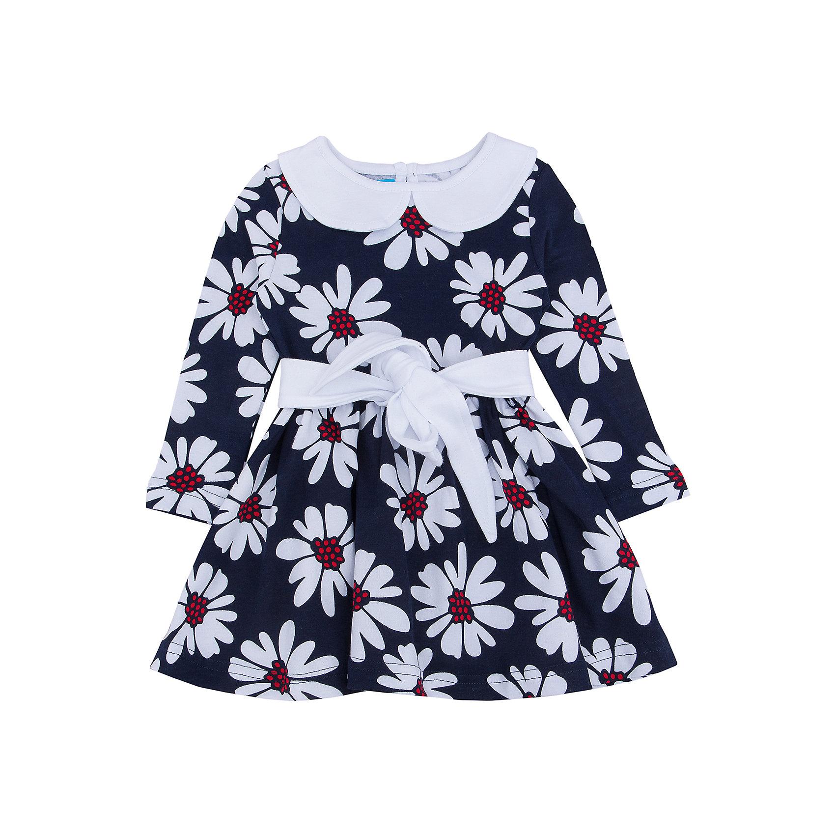Платье для девочки АпрельПлатье для девочки от известного бренда Апрель.<br>Стильное платье с длинными рукавами выполнено из плотного хлопкового полотна. Изделие декорировано поясом, а также отложным воротничком контрастного цвета, застегивается на пуговицу на спинке. Отличный вариант для маленькой леди как на праздник, так и на каждый день! Рекомендуется машинная стирка при температуре 40 градусов без предварительного замачивания.<br>Состав:<br>хлопок 100%<br><br>Ширина мм: 236<br>Глубина мм: 16<br>Высота мм: 184<br>Вес г: 177<br>Цвет: синий/белый<br>Возраст от месяцев: 18<br>Возраст до месяцев: 24<br>Пол: Женский<br>Возраст: Детский<br>Размер: 92,128,122,116,110,104,98<br>SKU: 4966444