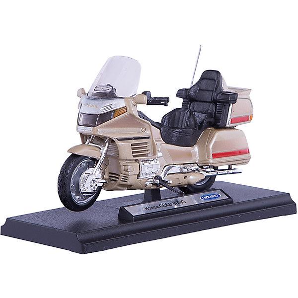 Модель мотоцикла 1:18 Honda Gold Wing, WellyМашинки<br>Модель мотоцикла Welly 1:18 HONDA Gold Wing<br>Ширина мм: 70; Глубина мм: 110; Высота мм: 170; Вес г: 205; Возраст от месяцев: 36; Возраст до месяцев: 192; Пол: Мужской; Возраст: Детский; SKU: 4966471;