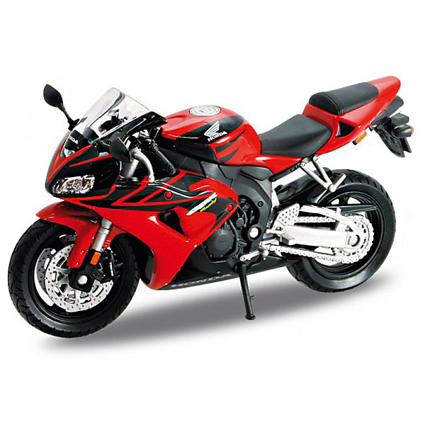 Модель мотоцикла 1:18 Honda CBR1000RR, WellyМашинки<br>Модель мотоцикла Welly масштаба 1:18 HONDA CBR1000RR выполнена в точном соответствии с оригиналом. Все коллекционные модели Велли очень точные, т.к. создаются по лицензии автопроизводителя.<br><br>Ширина мм: 70<br>Глубина мм: 110<br>Высота мм: 170<br>Вес г: 148<br>Возраст от месяцев: 36<br>Возраст до месяцев: 192<br>Пол: Мужской<br>Возраст: Детский<br>SKU: 4966474