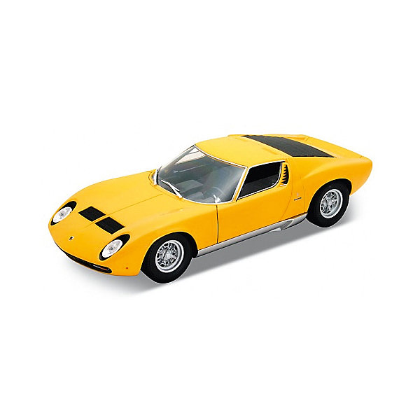Модель машины 1:18 Lamborghini Miura, WellyМашинки<br>Коллекционная модель машины Welly масштаба 1:18. Функции: открываются передние двери, капот, багажник, поворотом руля поварачиваются передние колеса.  Обратите внимание, машина представлена в цветовом ассортименте, выбранный вариант в поставке не гарантирован.<br><br>Ширина мм: 160<br>Глубина мм: 140<br>Высота мм: 330<br>Вес г: 1042<br>Возраст от месяцев: 36<br>Возраст до месяцев: 192<br>Пол: Мужской<br>Возраст: Детский<br>SKU: 4966475