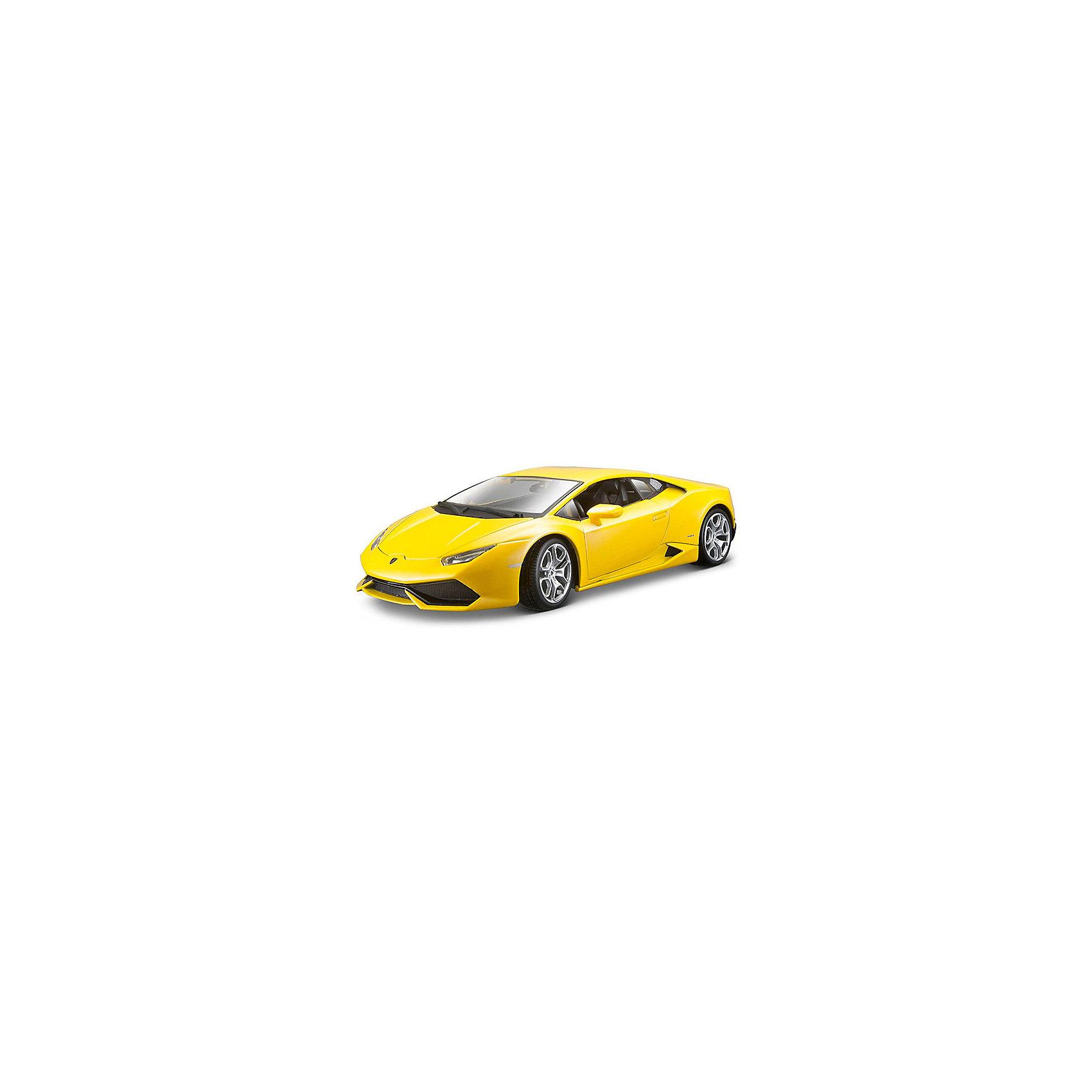 Модель машины 1:18 Lamborghini Huracan, WellyКоллекционные модели<br>Коллекционная модель автомобиля Welly Lamborghini Huracan, выполненная в масштабе 1:18. Это потрясающее авто было выпущено в 2015 году и пришло на замену другому полноприводному спортивному автомобилю компании Ламборджини – Gallardo. Обратите внимание, машина представлена в цветовом ассортименте, выбранный вариант в поставке не гарантирован.<br><br>Ширина мм: 160<br>Глубина мм: 140<br>Высота мм: 340<br>Вес г: 1052<br>Возраст от месяцев: 36<br>Возраст до месяцев: 192<br>Пол: Мужской<br>Возраст: Детский<br>SKU: 4966479