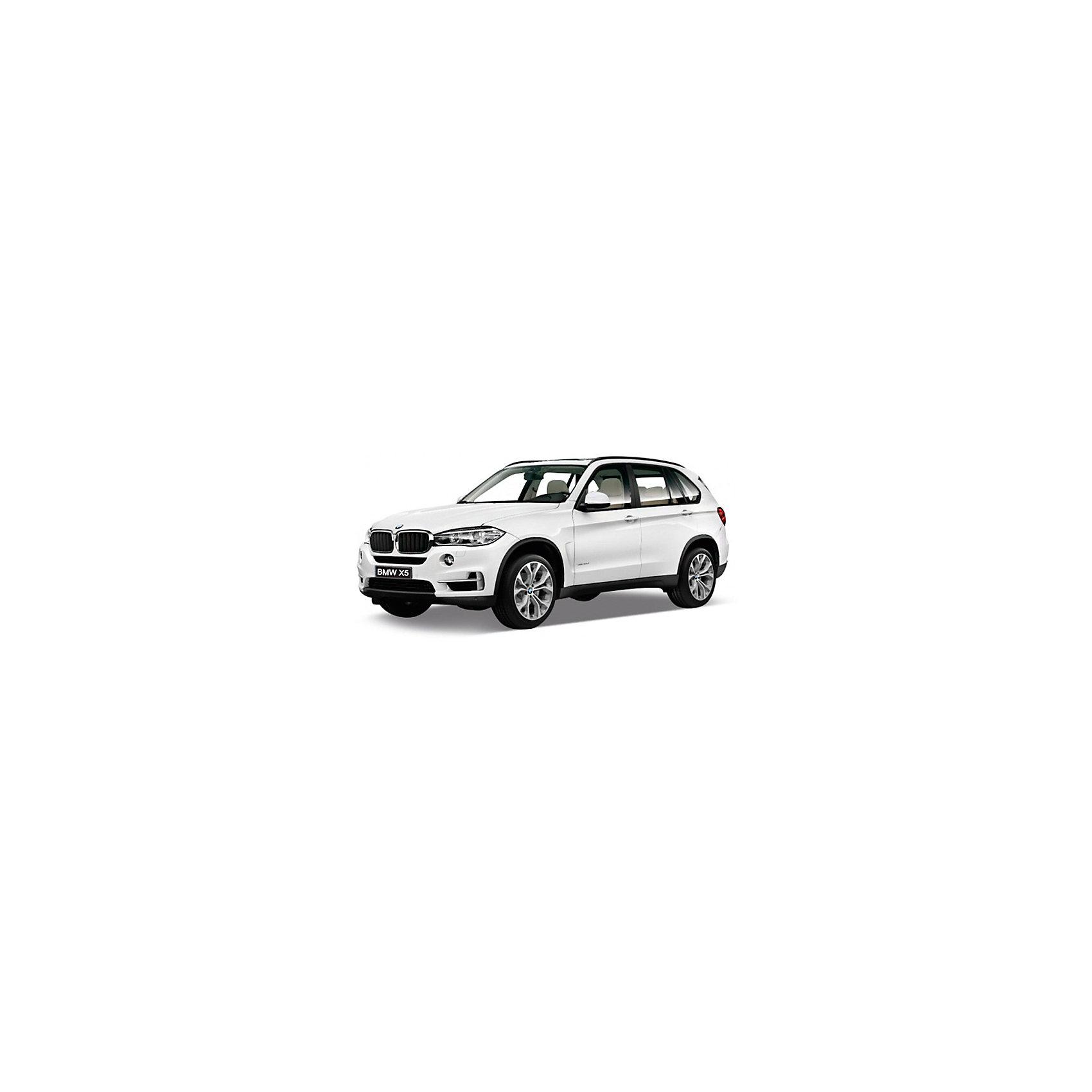 Модель машины 1:24 BMW X5, WellyКоллекционные модели<br>Коллекционная модель машины BMW X5 от Welly выполнена в точном соответствии с оригиналом. У машинки открывается капот и двери.<br>Эта модель машины создана на основе реальной модели БМВ X5, выпуск которой начался в 2013 году. Это вместительный, среднеразмерный кроссовер, способный преодолеть самые разные препятствия на дороге. Игрушка представлена в ассортименте, выбранный вариант в поставке не гарантирован.<br><br>Ширина мм: 110<br>Глубина мм: 100<br>Высота мм: 230<br>Вес г: 547<br>Возраст от месяцев: 36<br>Возраст до месяцев: 192<br>Пол: Мужской<br>Возраст: Детский<br>SKU: 4966492