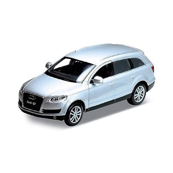 Модель машины 1:32 Audi Q7, WellyМашинки<br>Коллекционная модель машины Welly масштаба 1:32 Audi Q7, является точной копией настоящего автомобиля. У машины открываются двери. Цвет кузова автомобиля представлен в ассортименте. Выбрать определенный цвет заранее не представляется возможным.<br><br>Ширина мм: 80<br>Глубина мм: 80<br>Высота мм: 180<br>Вес г: 288<br>Возраст от месяцев: 36<br>Возраст до месяцев: 192<br>Пол: Мужской<br>Возраст: Детский<br>SKU: 4966500